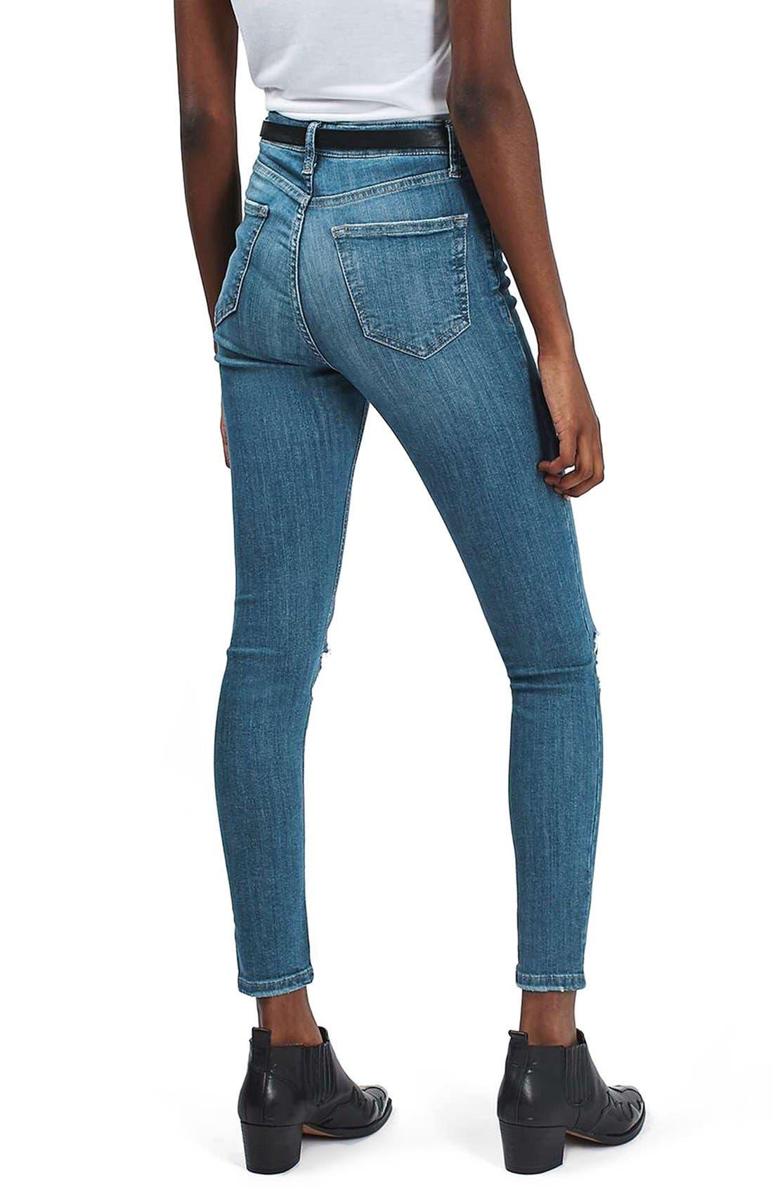 Alternate Image 3  - Topshop 'Jamie' Ripped Ankle Skinny Jeans