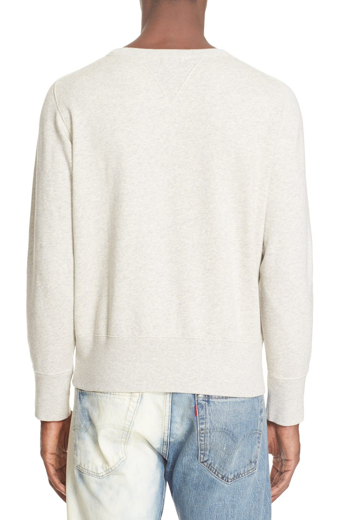 Bay Meadows Sweatshirt,                             Alternate thumbnail 2, color,                             White