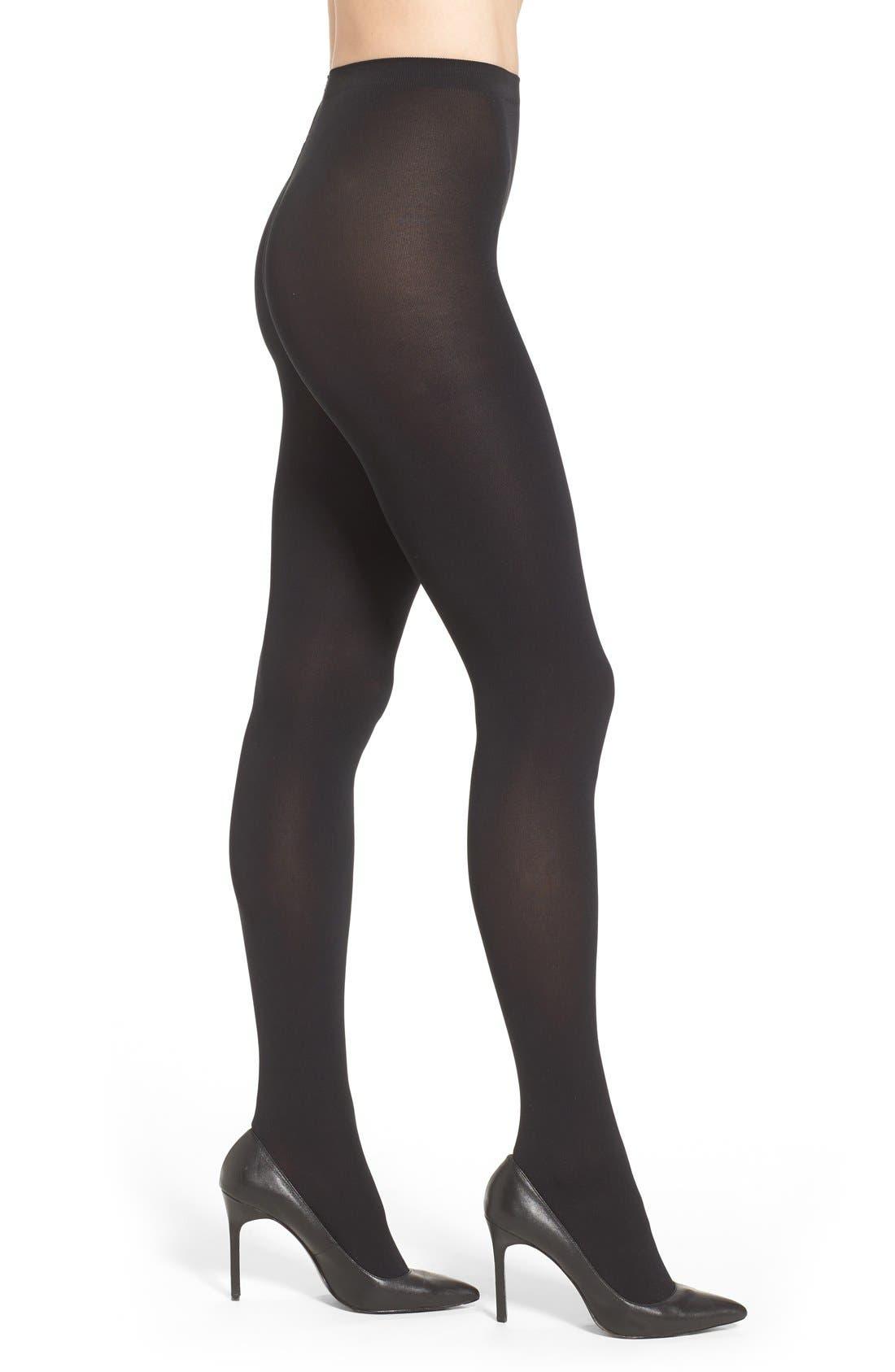 Matte Opaque Tights,                         Main,                         color, Black