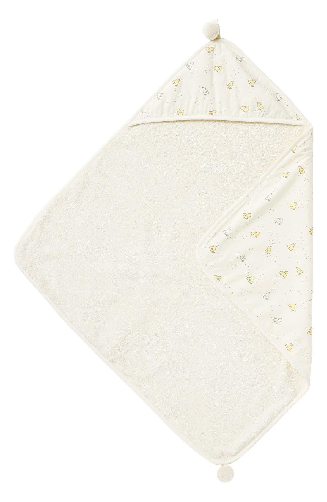 Main Image - Petit Pehr 'Baby Chick' Print Hooded Towel (Baby)