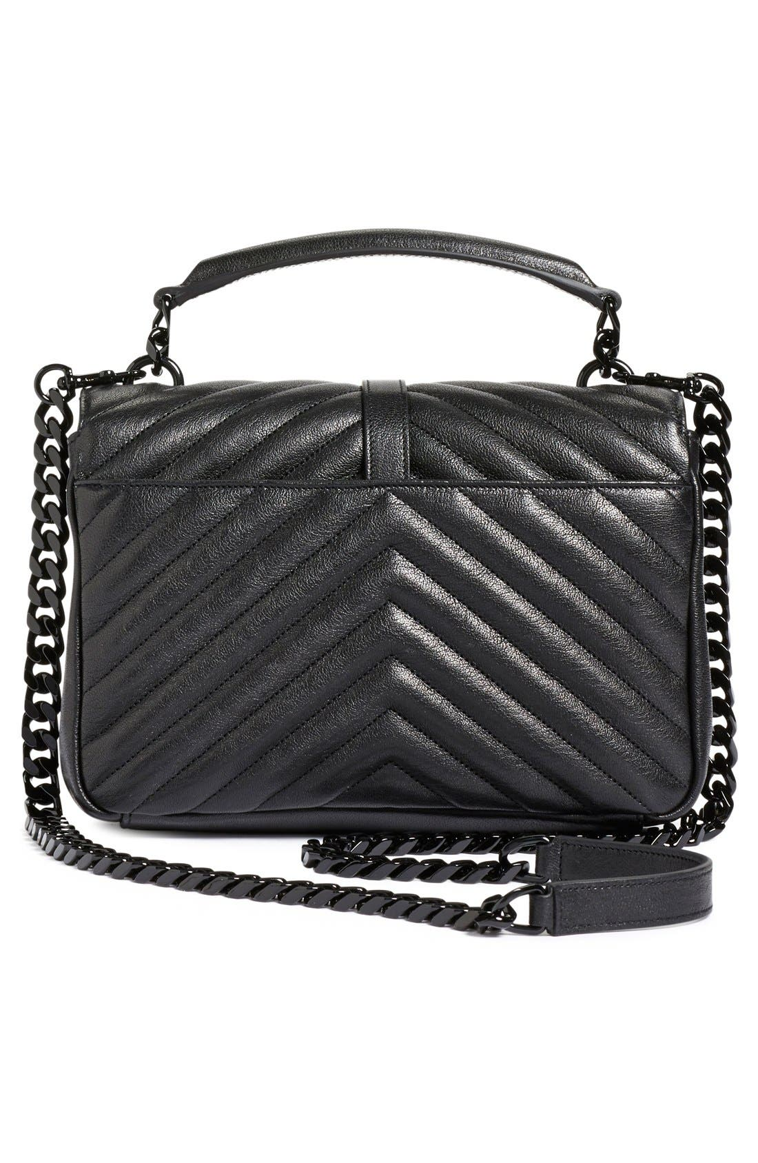 Alternate Image 3  - Saint Laurent 'Medium College' Quilted Leather Shoulder Bag