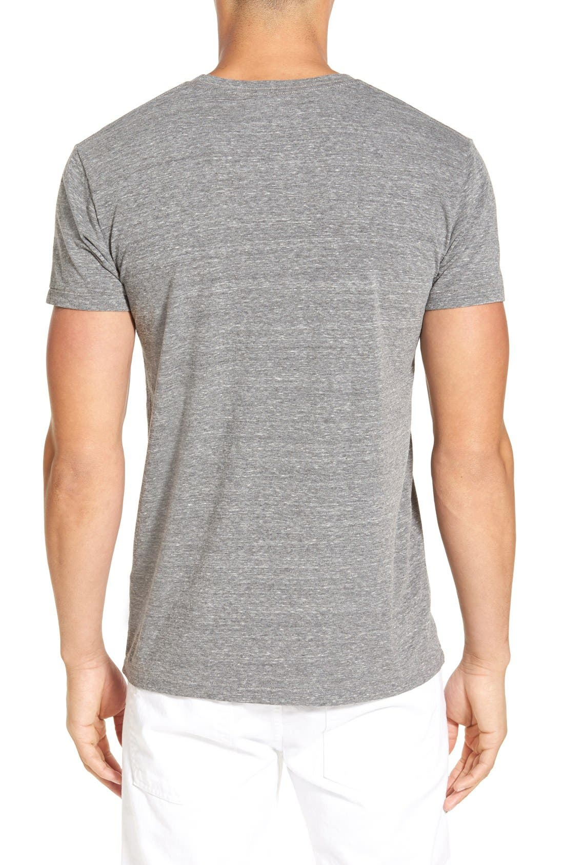 'Waves' Graphic T-Shirt,                             Alternate thumbnail 2, color,                             Heather Grey