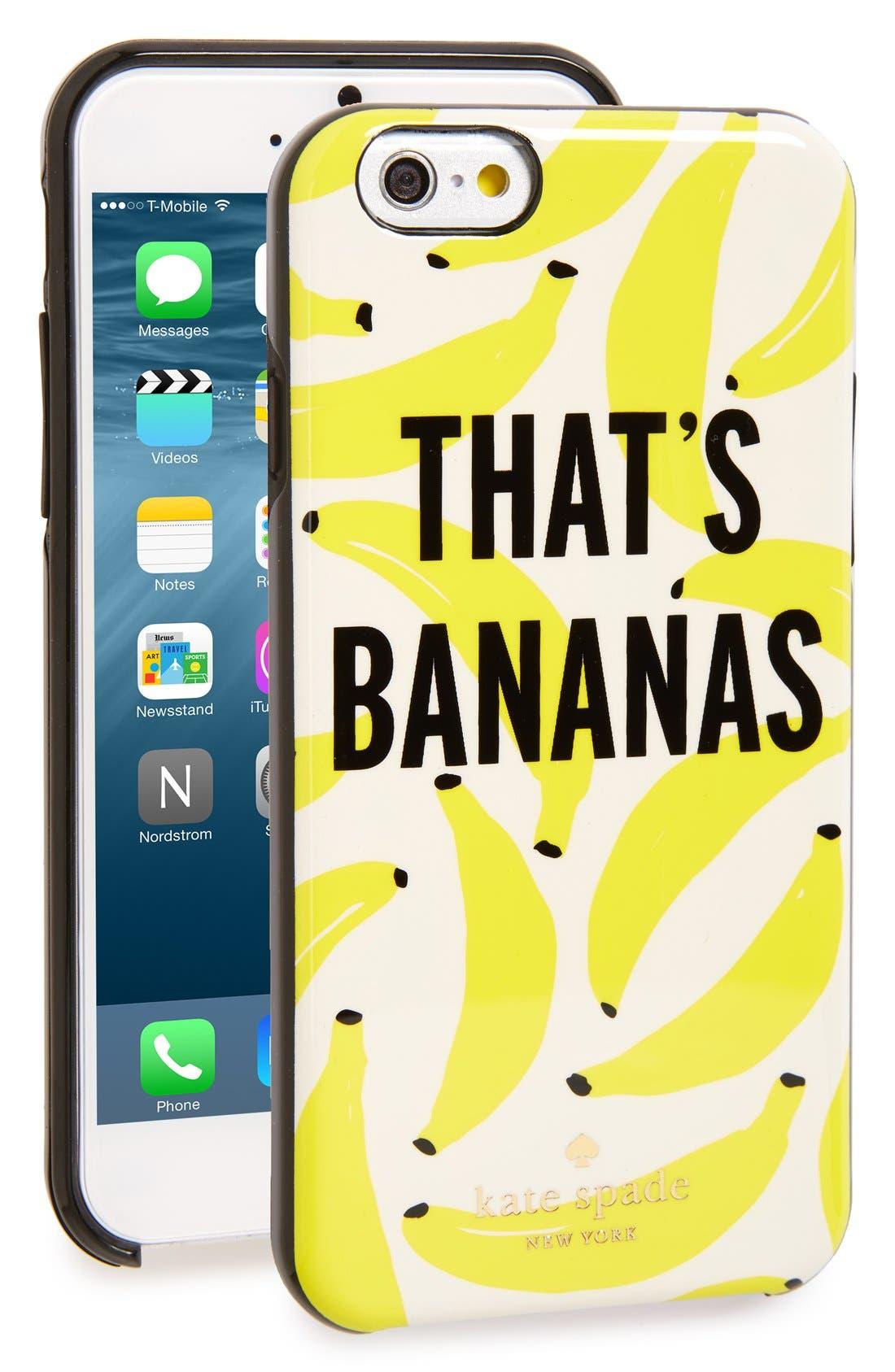 Kate Spade New York Des Thats Bananes Iphone 6 Cas En Jaune Bon Prix De Vente Pas Cher Pré Commande Pas Cher En Ligne z86Pqi29WA