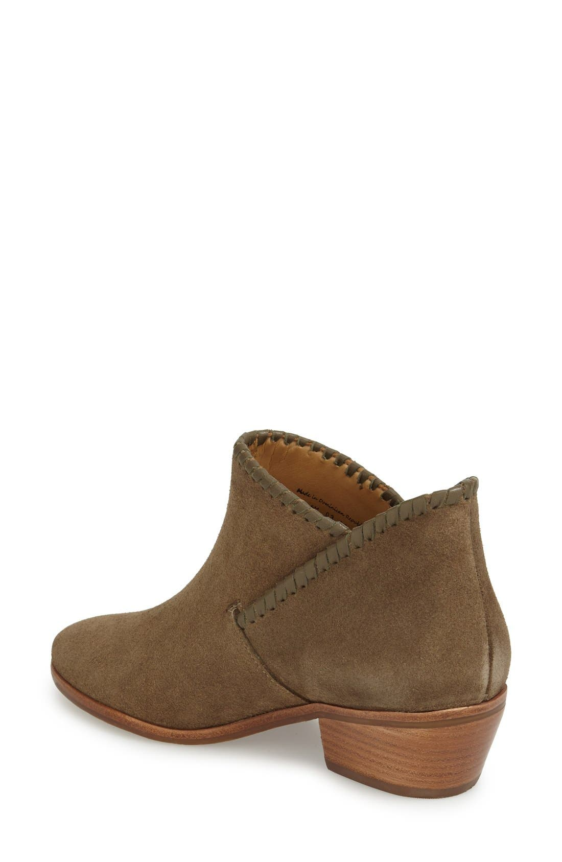 'Sadie' Bootie,                             Alternate thumbnail 2, color,                             Olive Suede