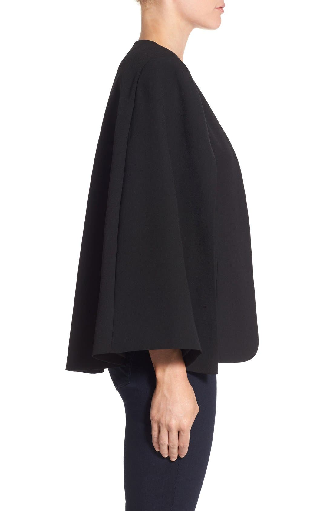 Alternate Image 4  - Vince Camuto Kiss Front Cape (Regular & Petite)