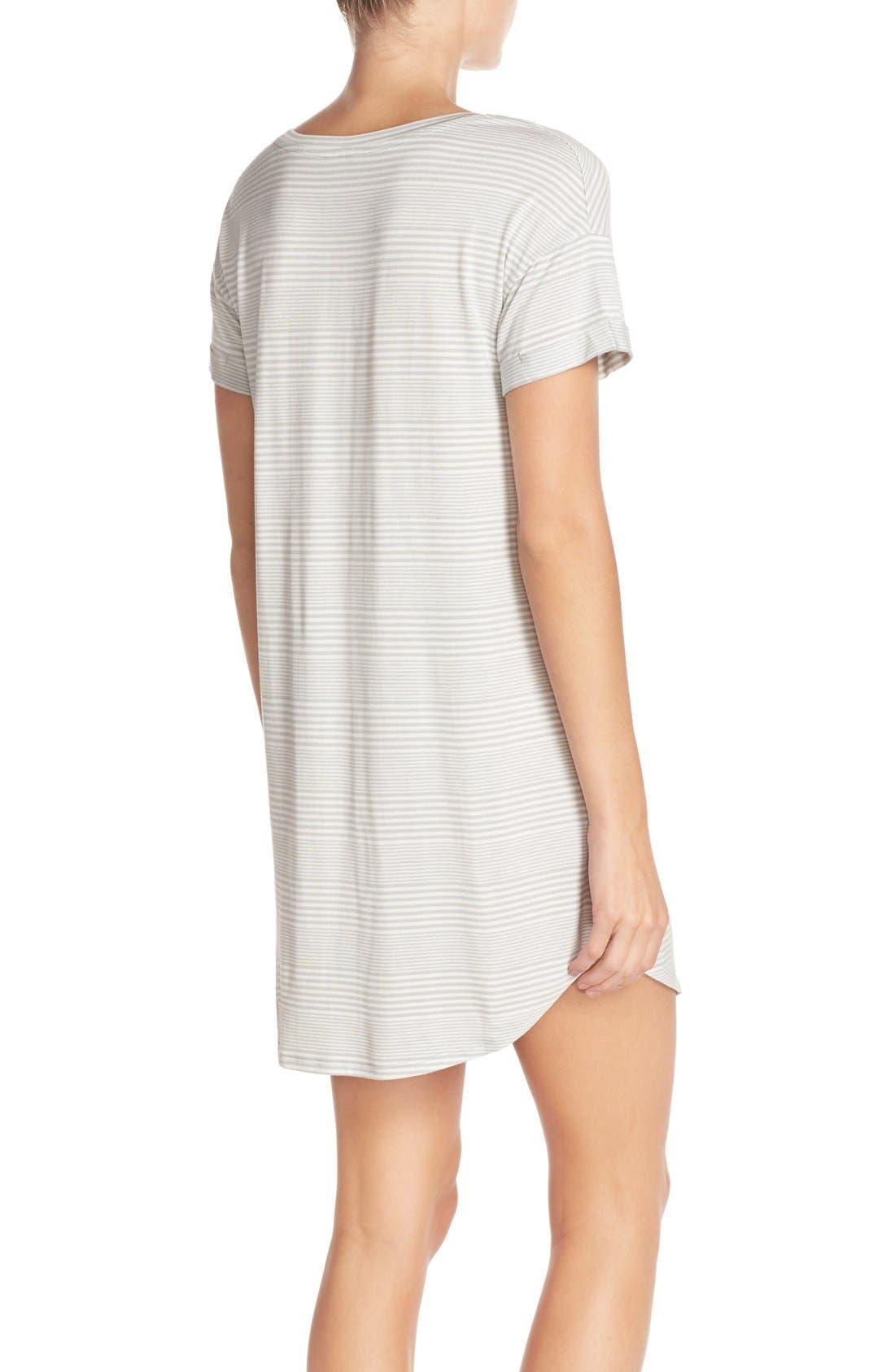 Alternate Image 2  - Nordstrom Lingerie Graphic Jersey Sleep Shirt