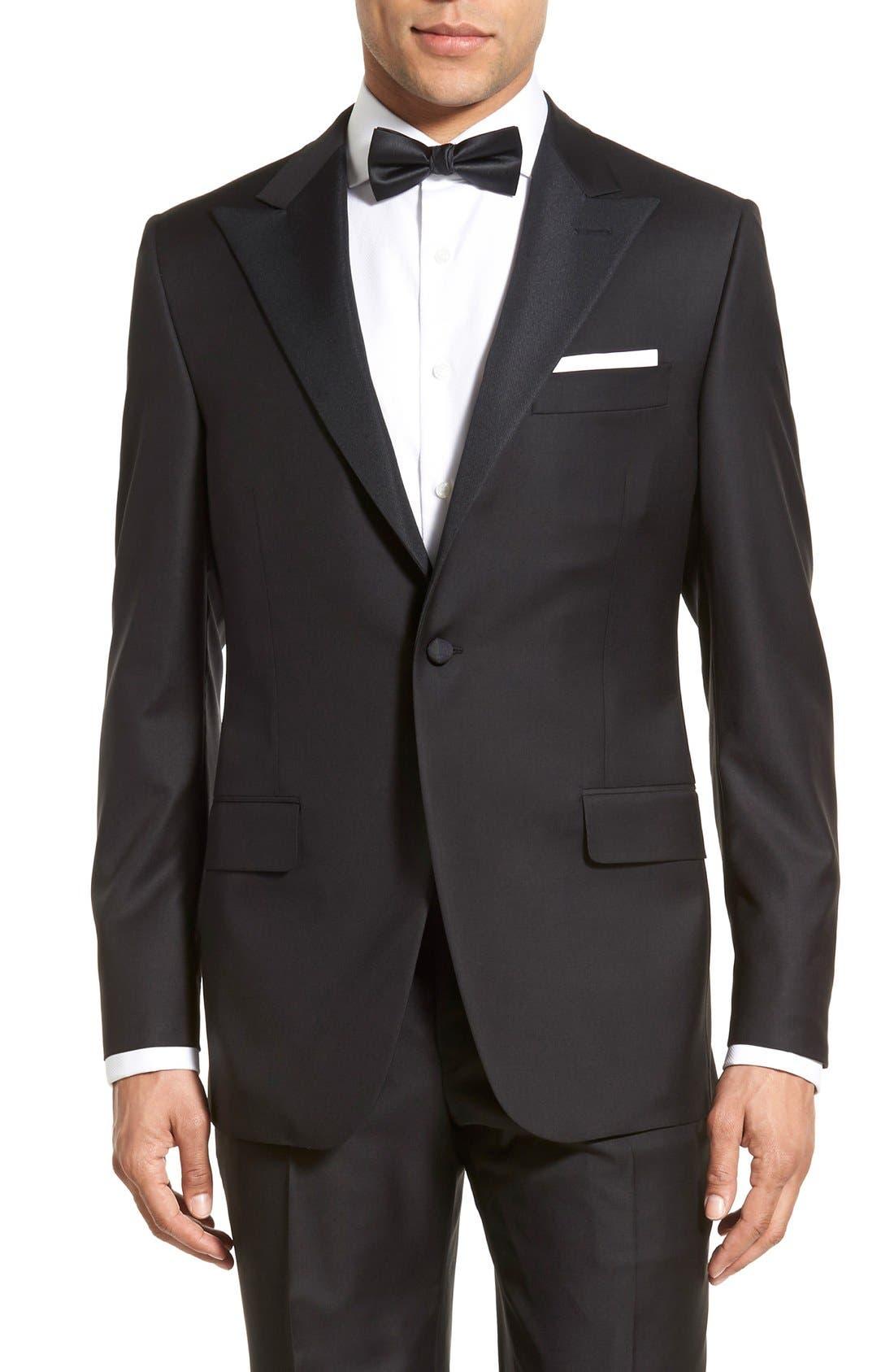 Alternate Image 5  - Hickey Freeman Classic B Fit Tasmanian Wool Tuxedo