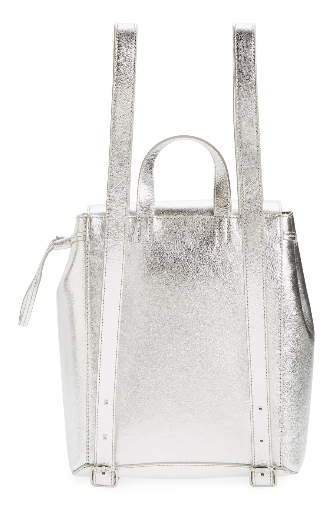 Alternate Image 3  - Loeffler Randall Mini Metallic Leather Backpack