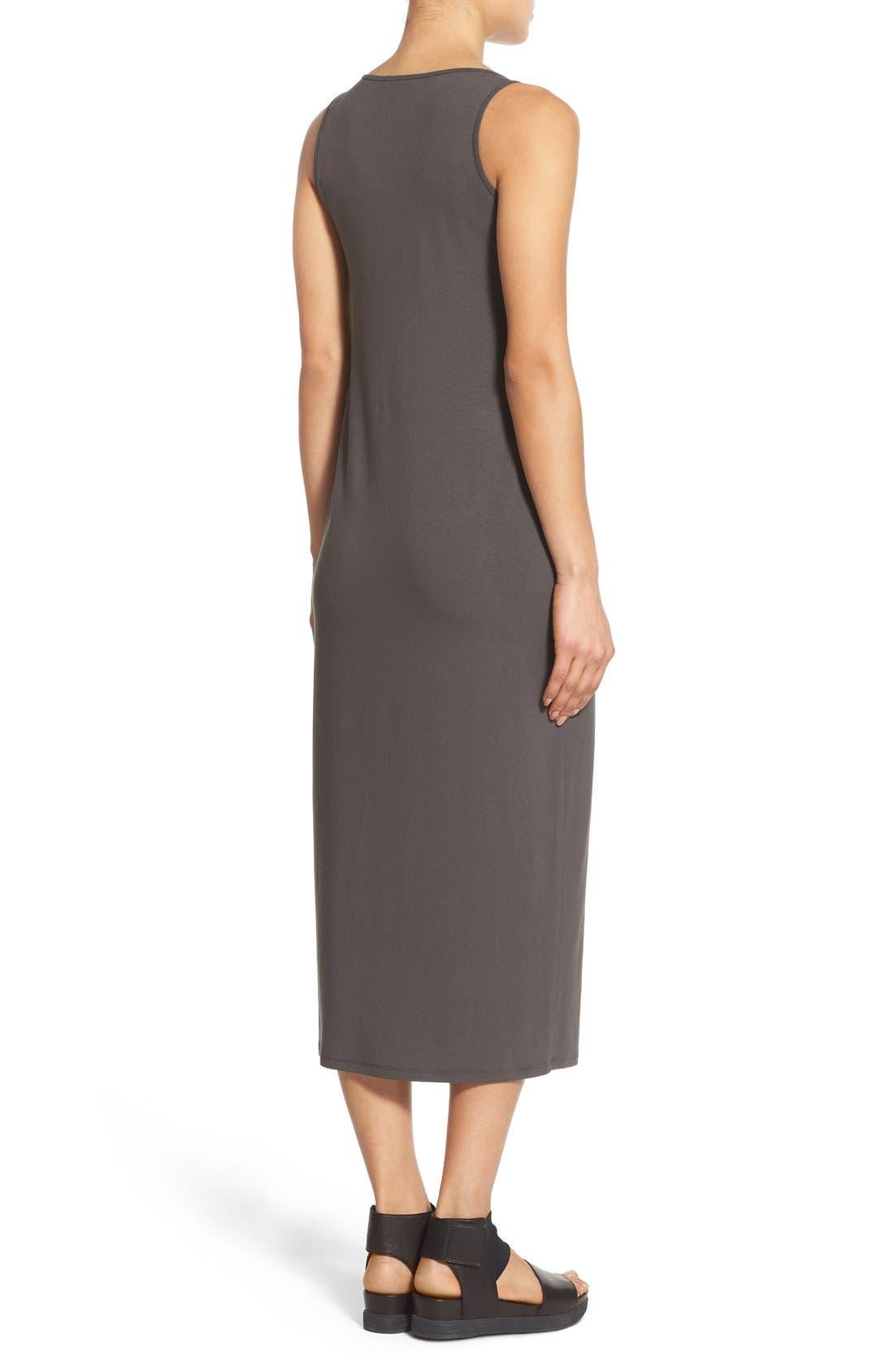 Alternate Image 2  - Eileen Fisher Scoop Neck Jersey Midi Dress (Regular & Petite)