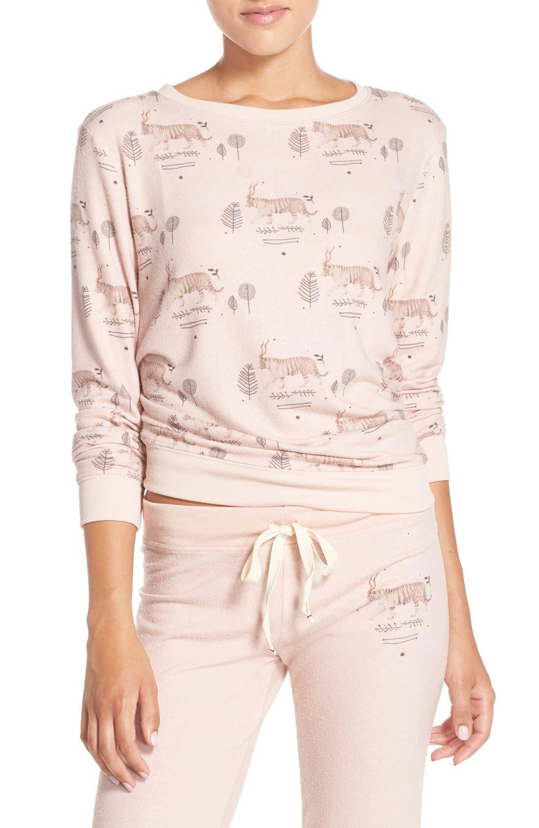 Alternate Image 1 Selected - All Things Fabulous Tiger Print Sweatshirt