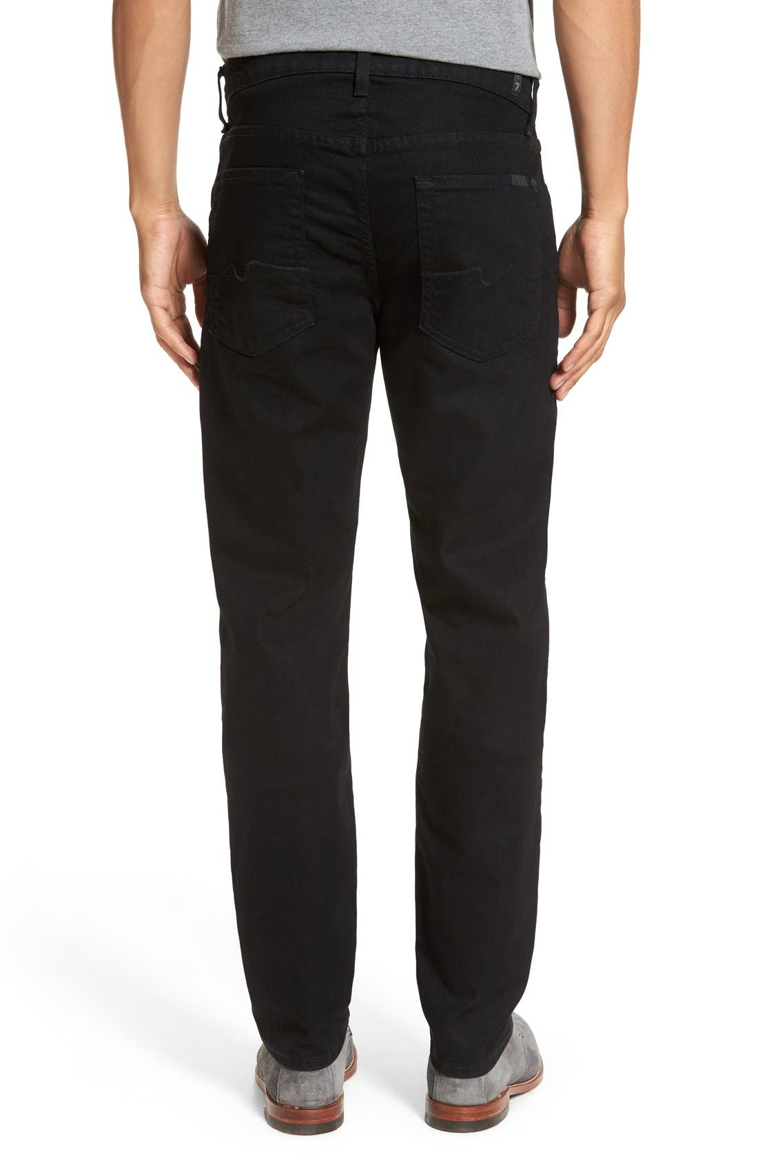 Alternate Image 2  - 7 For All Mankind® Slimmy Slim Fit Jeans (Towne Black)