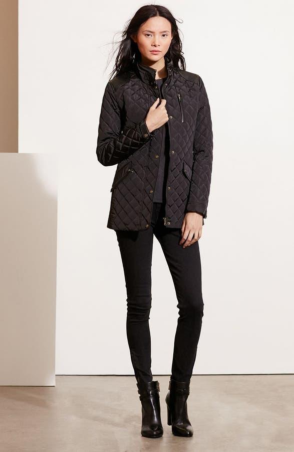 Lauren Ralph Lauren Diamond Quilted Jacket with Faux Leather Trim ... : ralph lauren quilted blazer - Adamdwight.com
