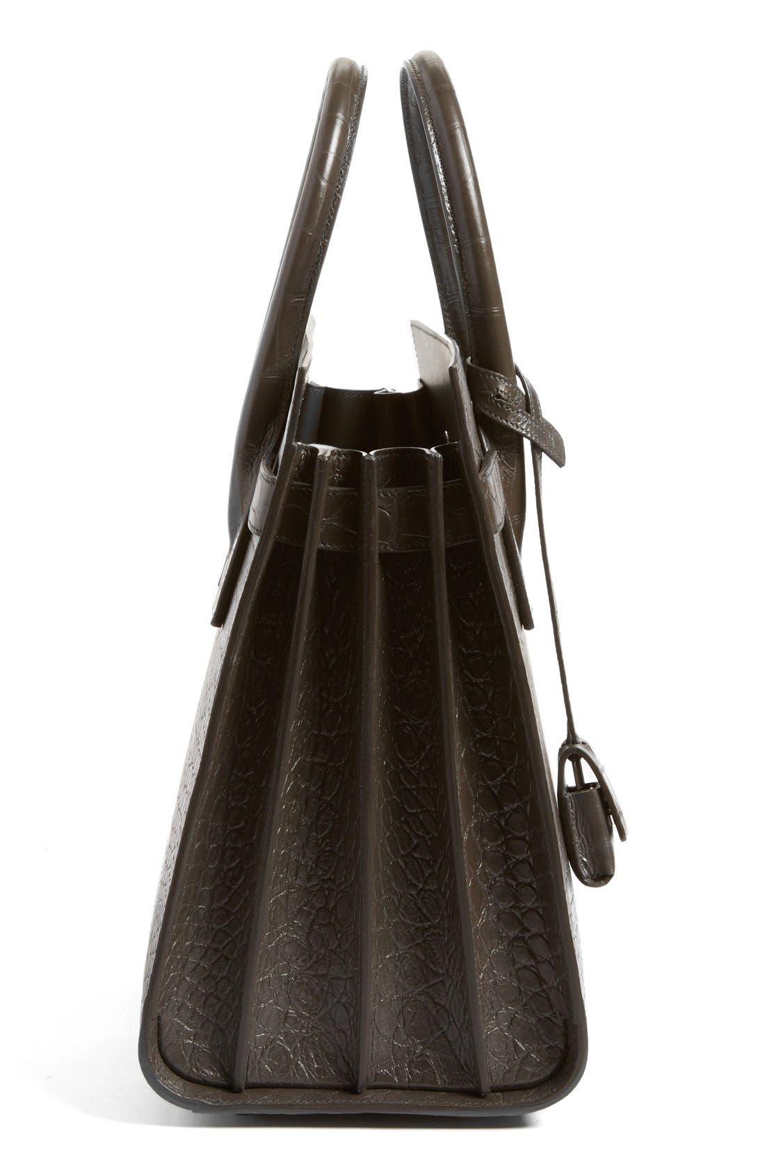 Alternate Image 4  - Saint Laurent 'Small Sac de Jour' Croc Embossed Leather Tote