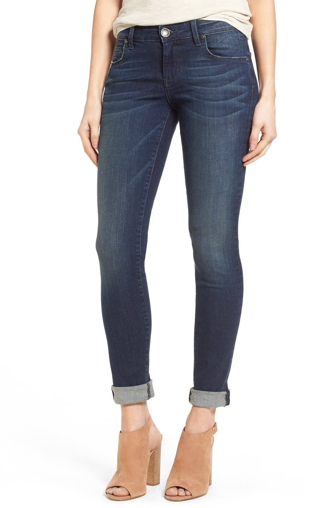 'Catherine' Slim Boyfriend Jeans,                             Main thumbnail 1, color,                             Carefulness