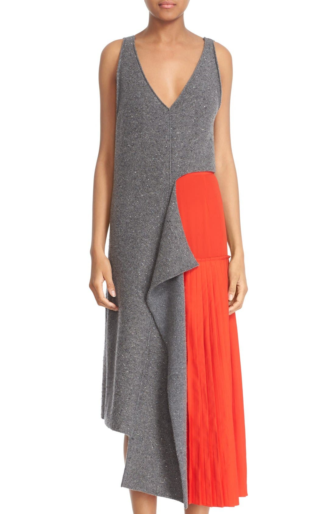 Alternate Image 1 Selected - Stella McCartney Asymmetric High/Low Flannel Top