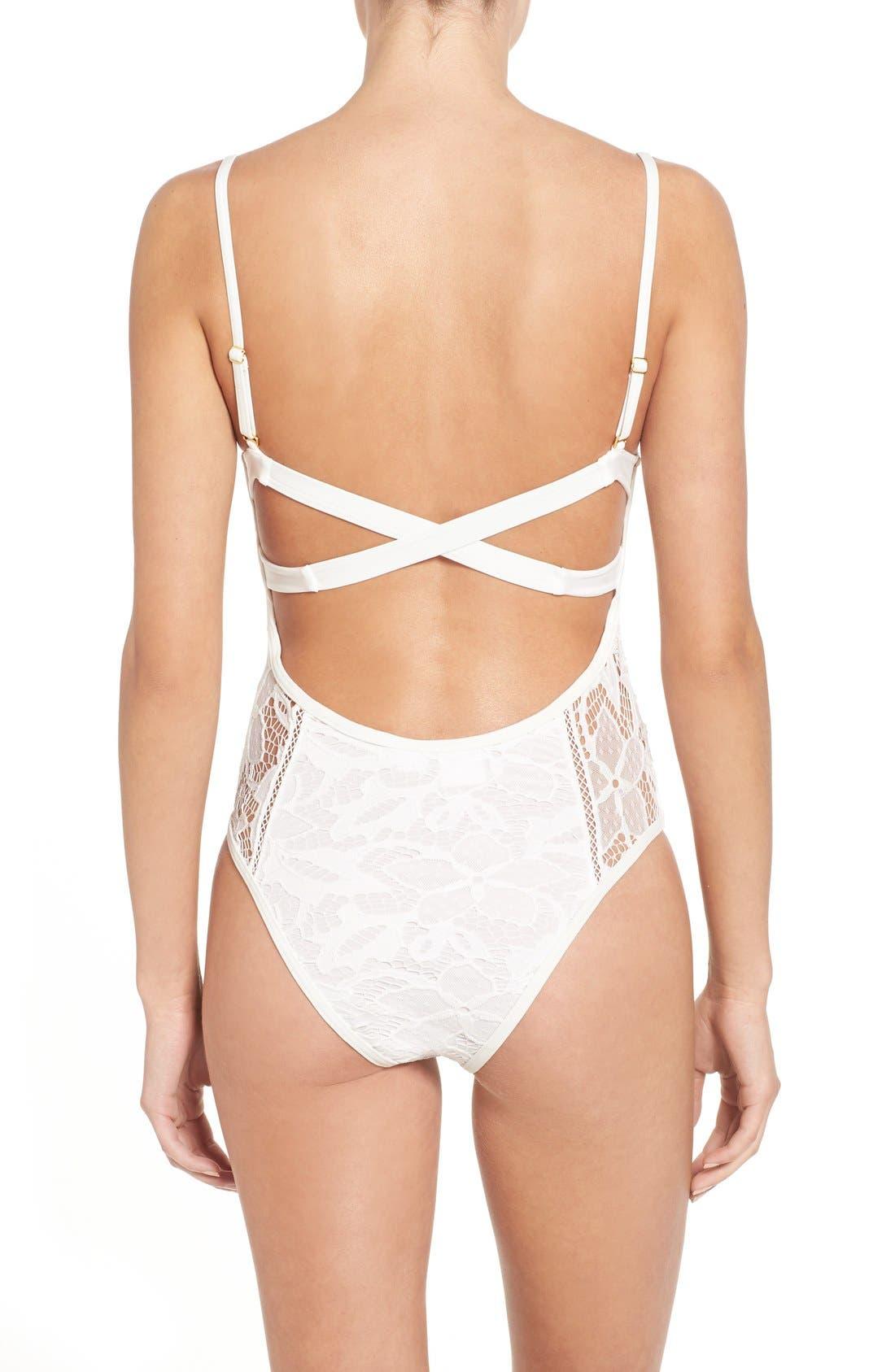 Alternate Image 2  - Somedays Lovin 'Coco' Lace One-Piece Swimsuit