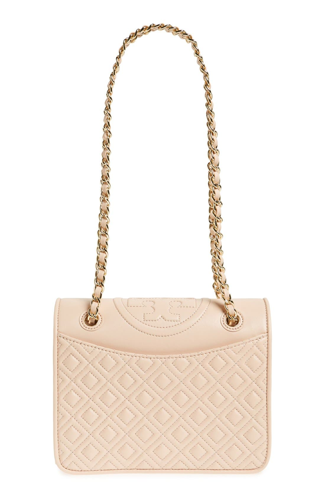 'Medium Fleming' Leather Shoulder Bag,                         Main,                         color, Pale Apricot