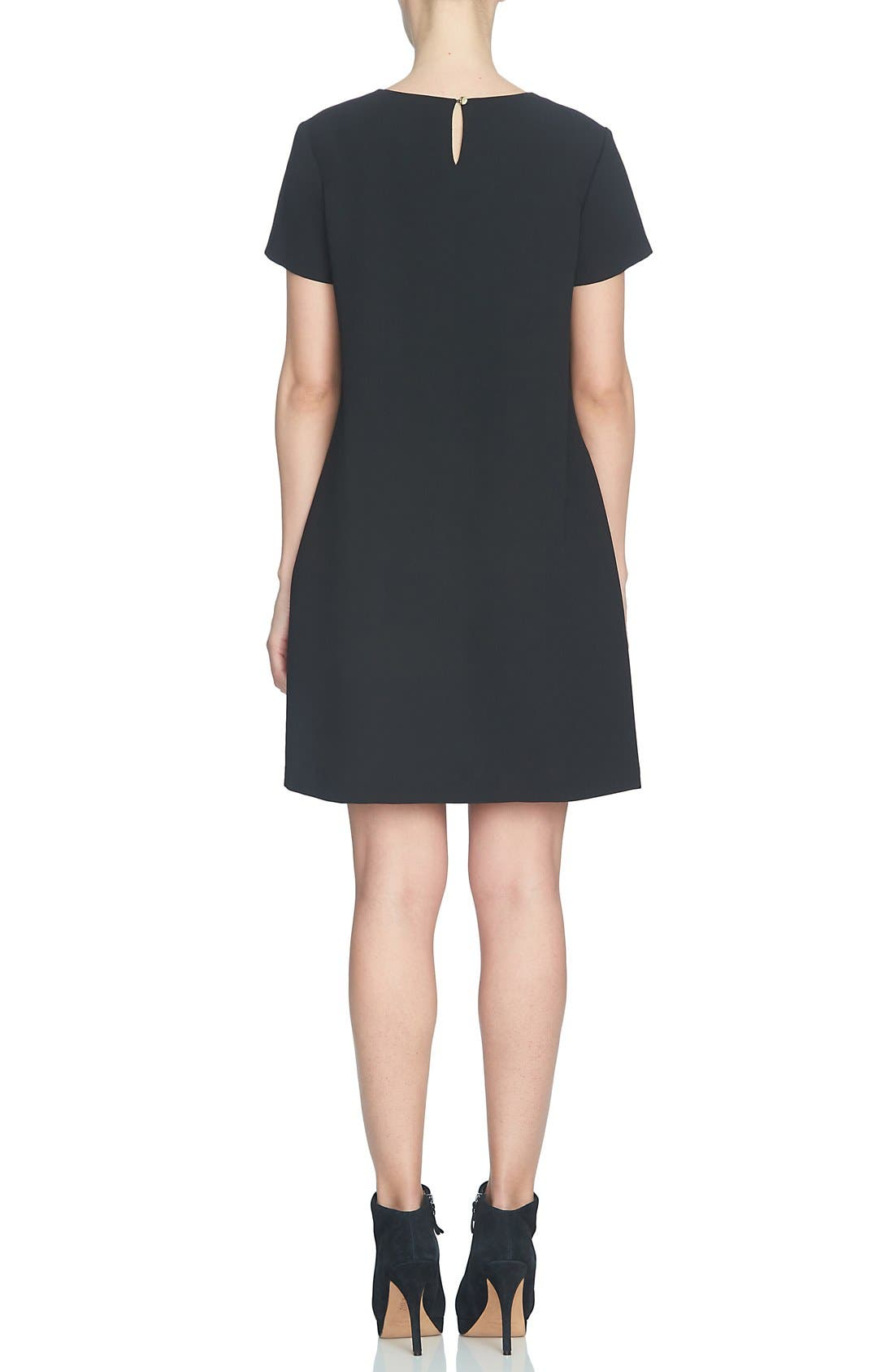 Alternate Image 2  - CeCe 'Melody Corsage' Print Short Sleeve Shift Dress