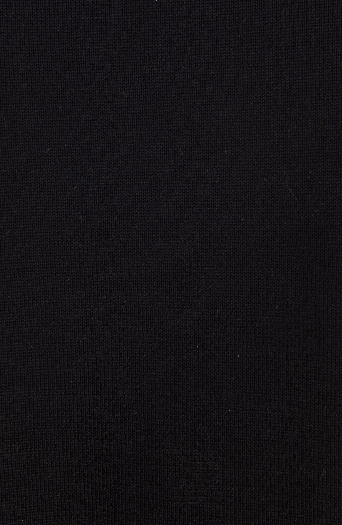 Wool Blend Intarsia Sweater,                             Alternate thumbnail 3, color,                             Black