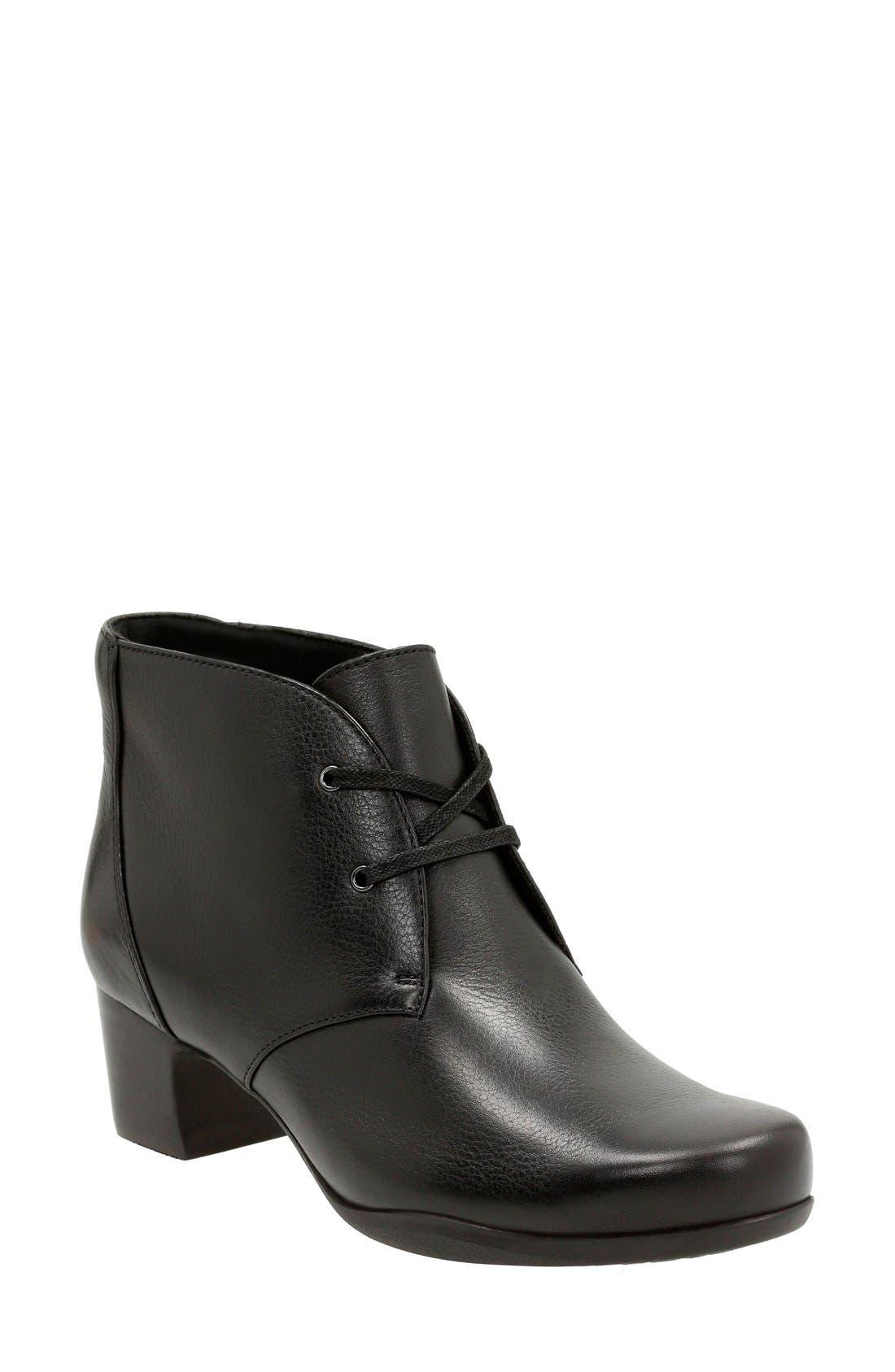 Clarks® 'Rosalyn Lark' Waterproof Boot (Women)