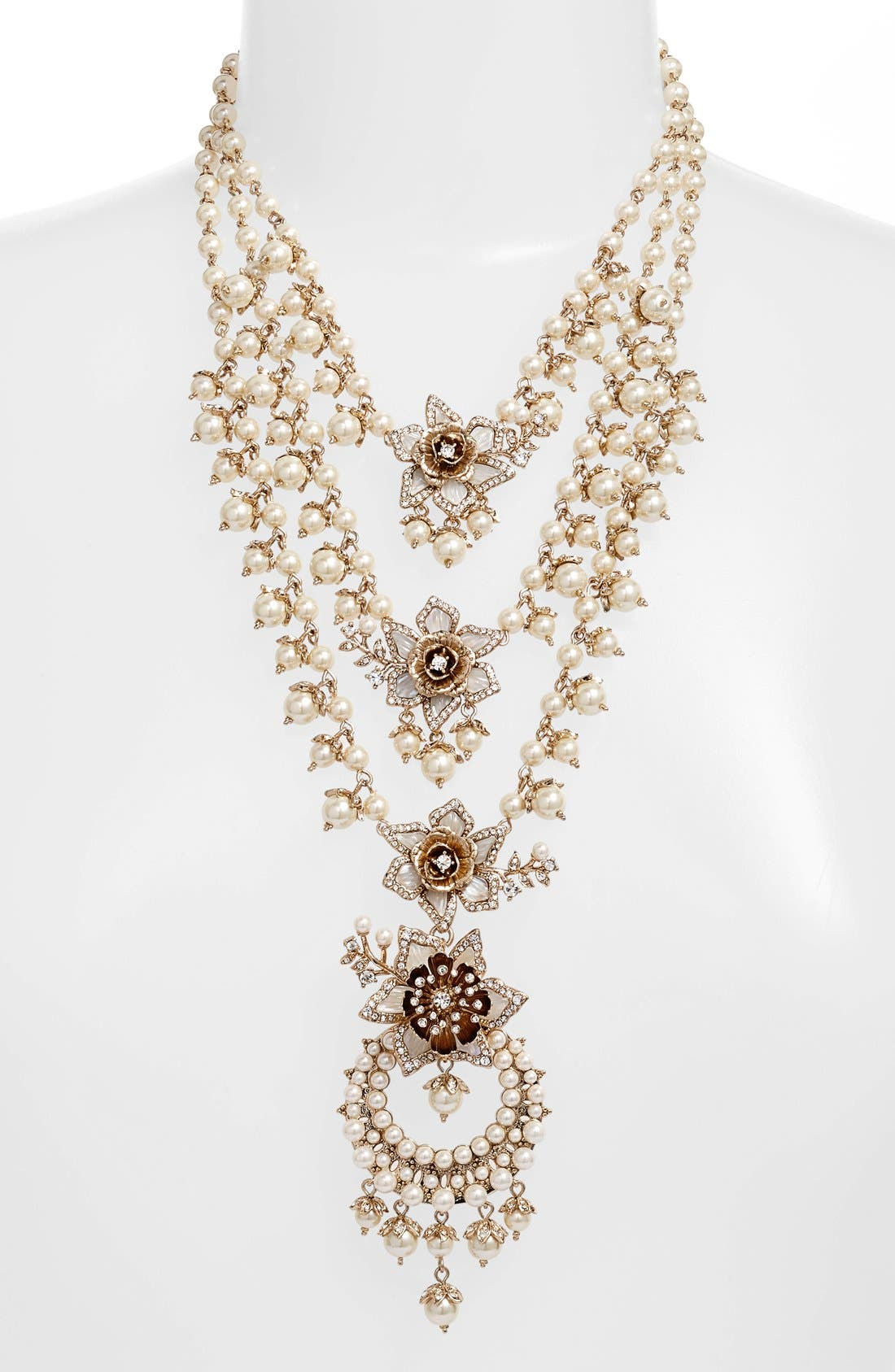Alternate Image 2  - Marchesa Faux Pearl Multistrand Statement Necklace