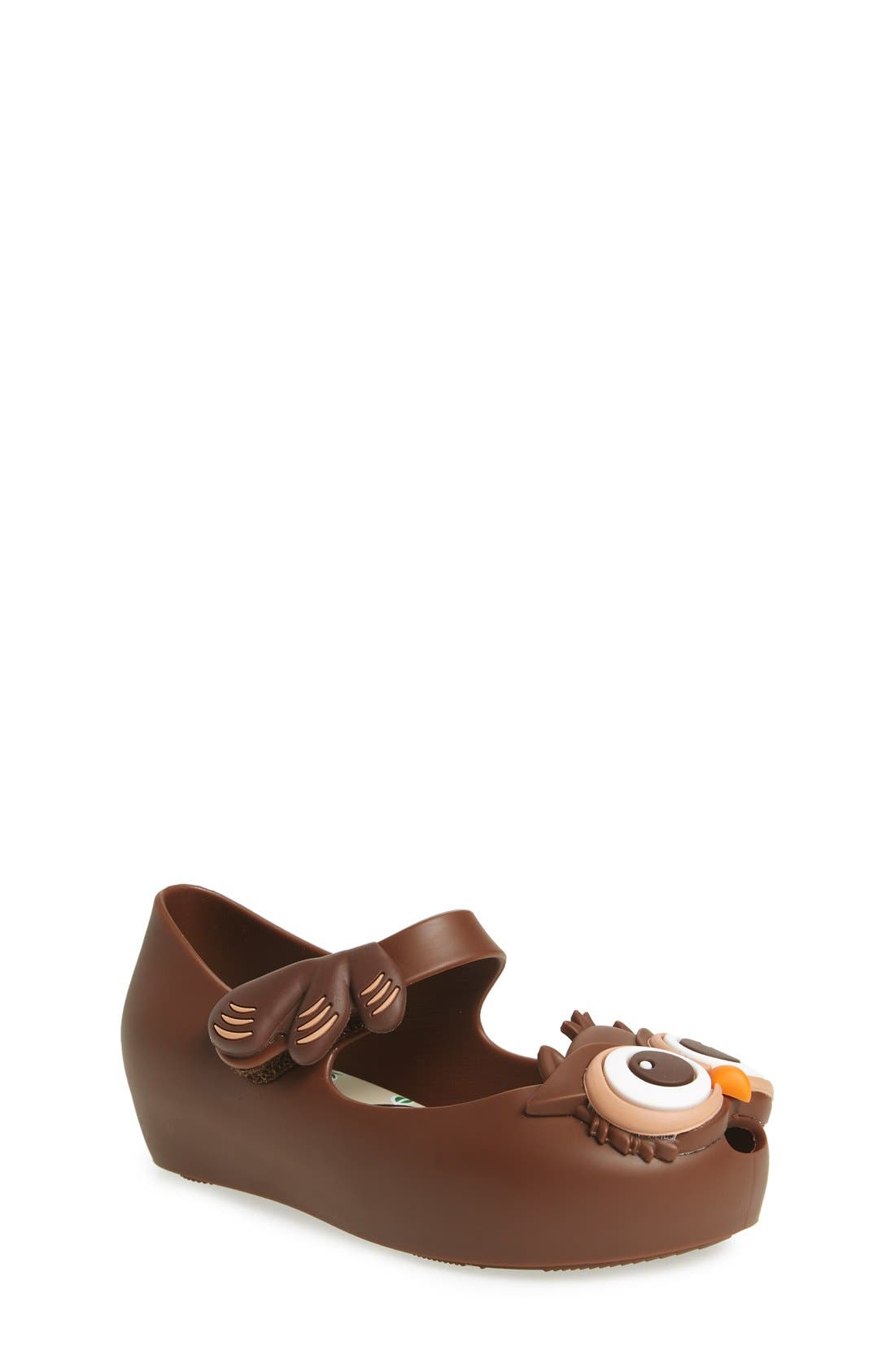 Alternate Image 1 Selected - Mini Melissa Ultragirl V Owl Slip-On Mary Jane (Walker & Toddler)