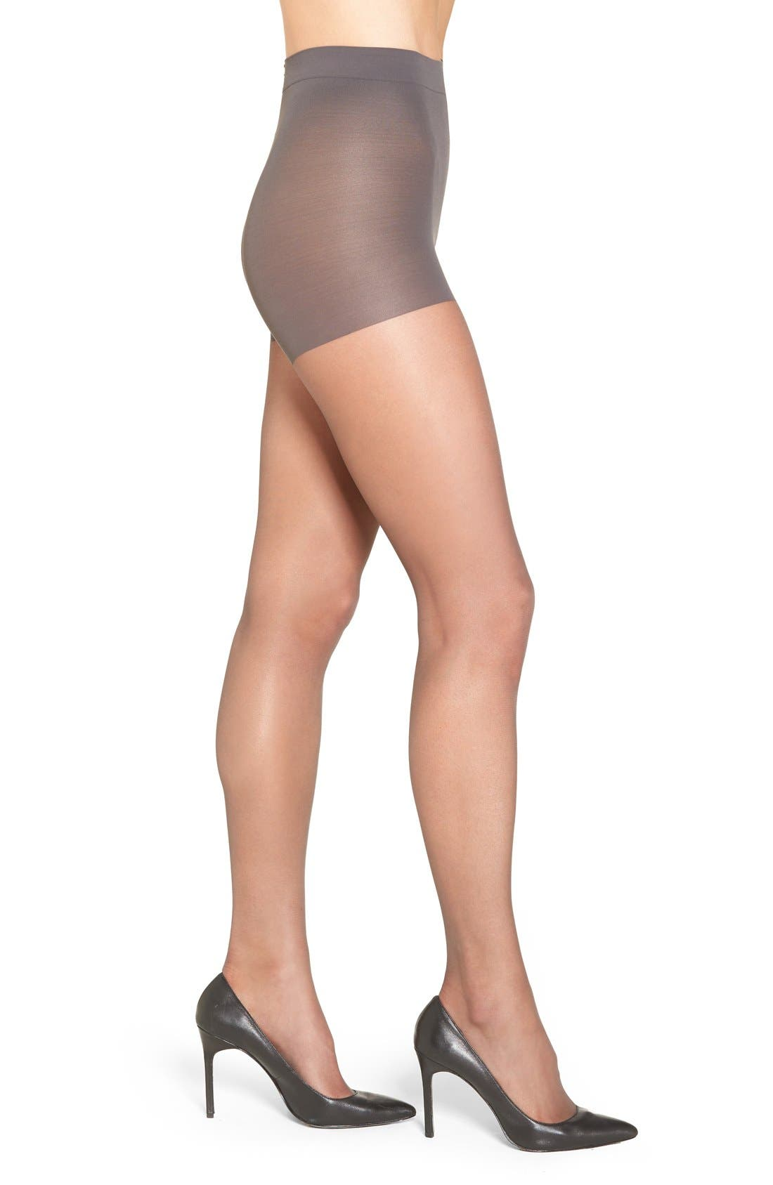 Control Top Pantyhose,                             Main thumbnail 1, color,                             Soft Black