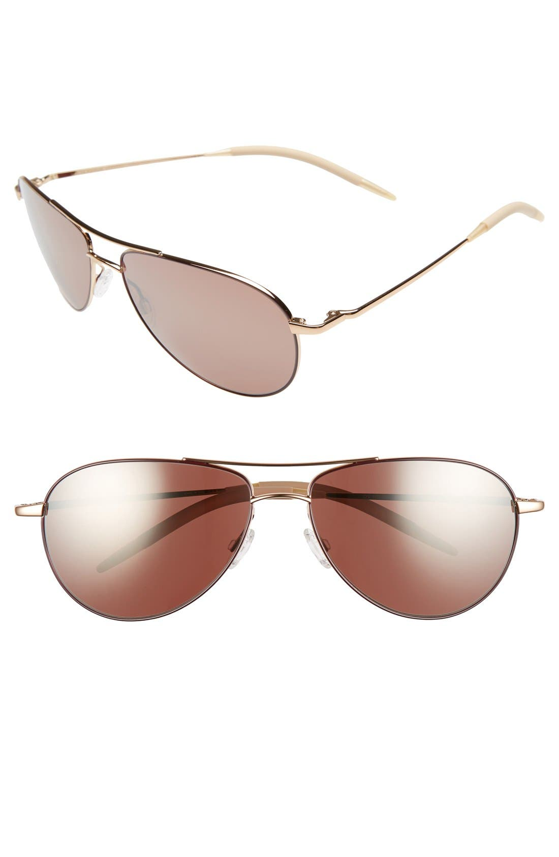 Main Image - Oliver Peoples 'Benedict' 59mm Aviator Sunglasses