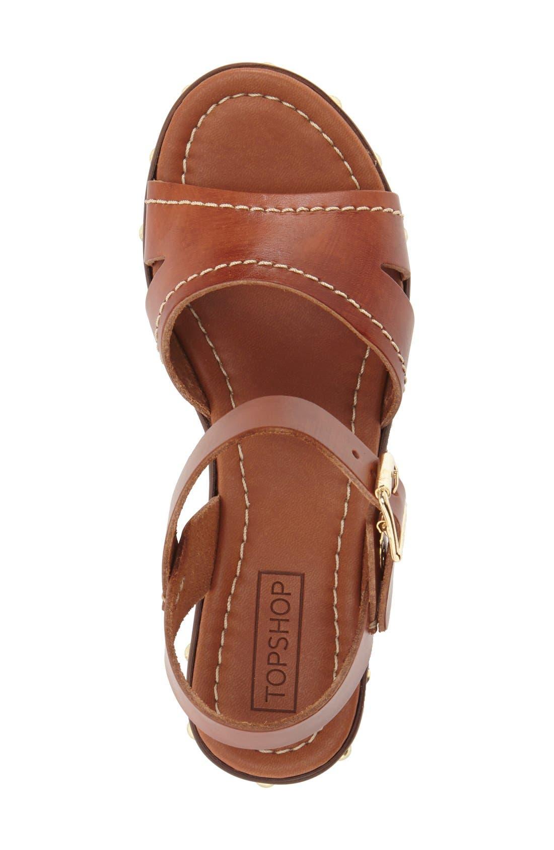 'VIV' Clog Sandals,                             Alternate thumbnail 3, color,                             Tan