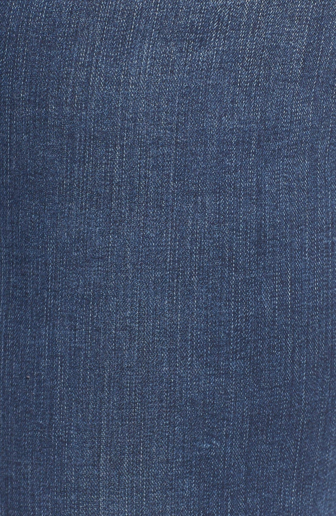 Alternate Image 6  - SLINK Jeans Ripped Stretch Ankle Skinny Jeans (Danika) (Plus Size)
