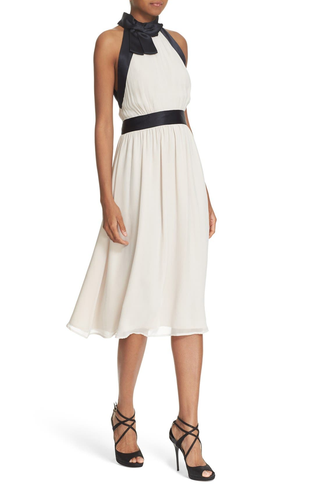 Alternate Image 4  - kate spade new york bow neck silk chiffon dress