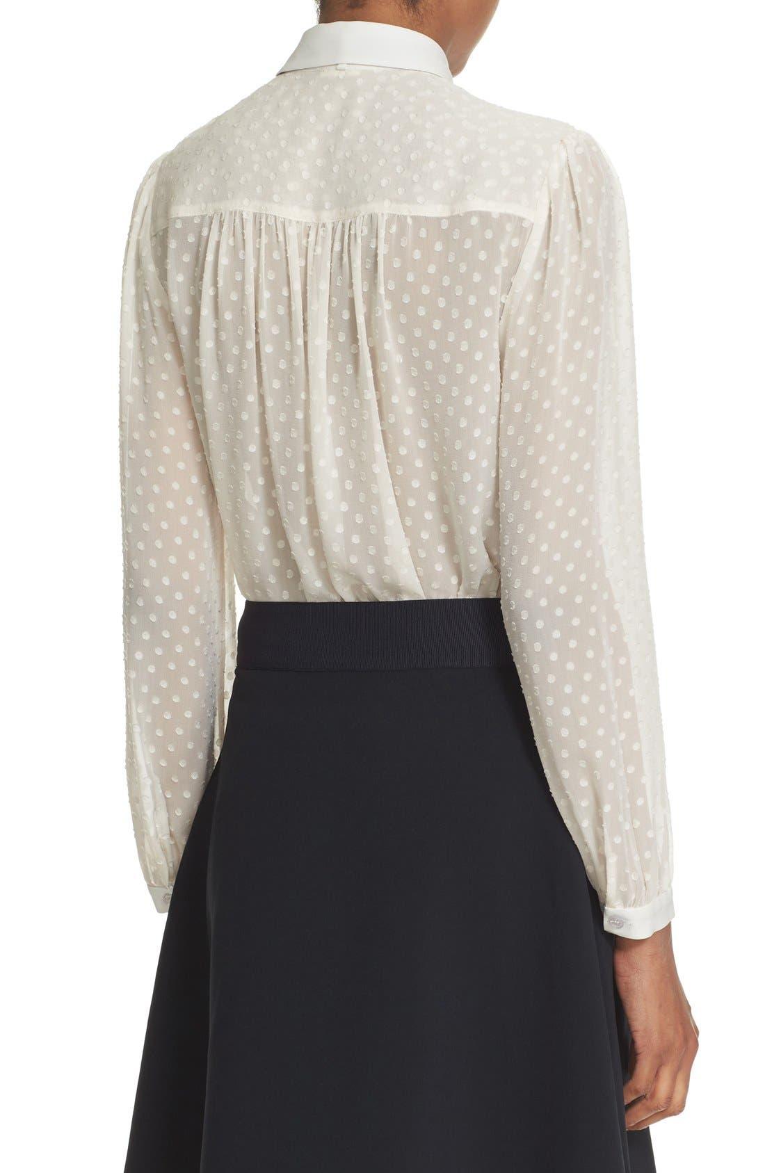 Alternate Image 3  - kate spade new york clipped chiffon bow blouse