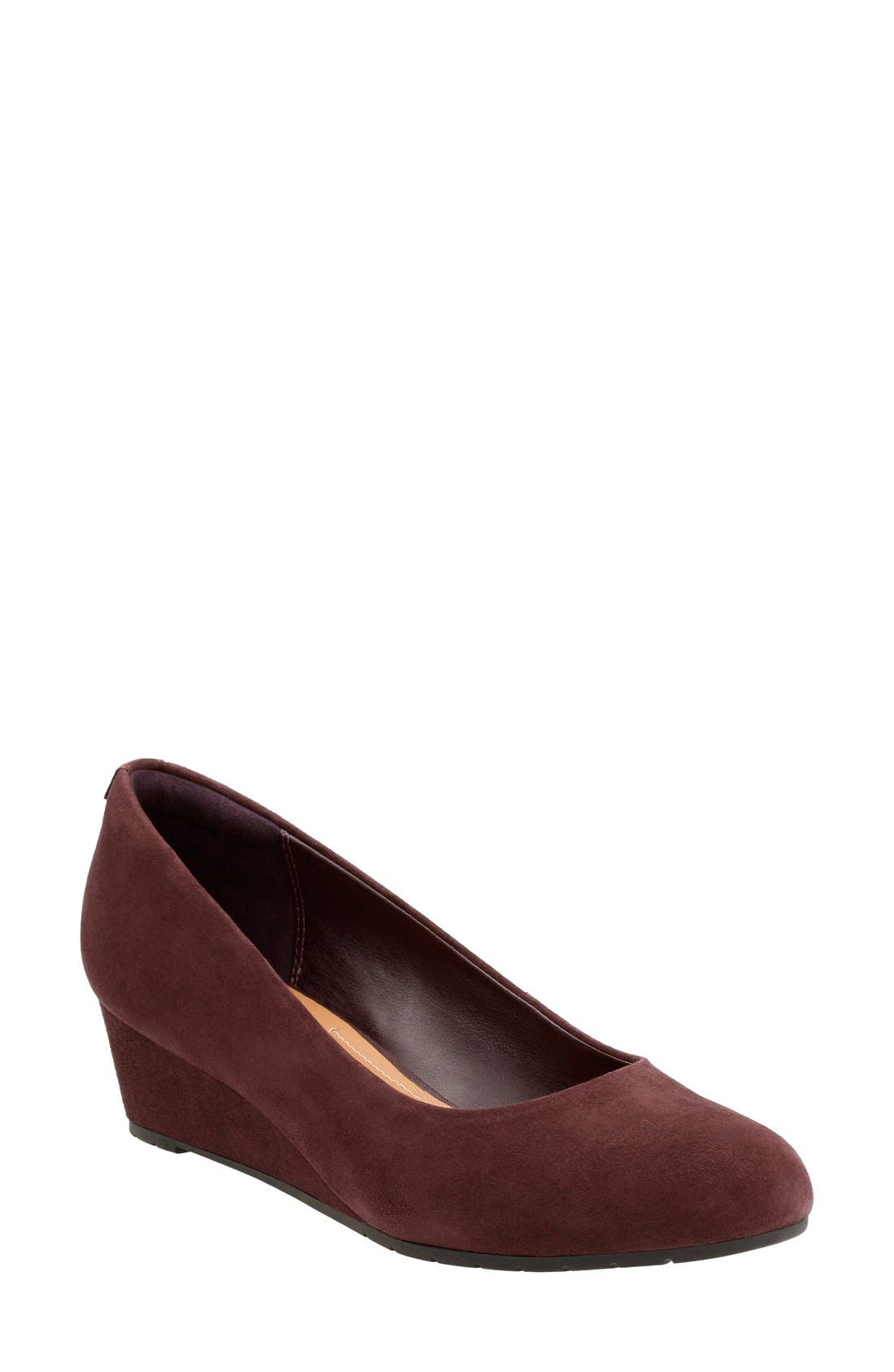CLARKS<SUP>®</SUP> Vendra Bloom Wedge Pump