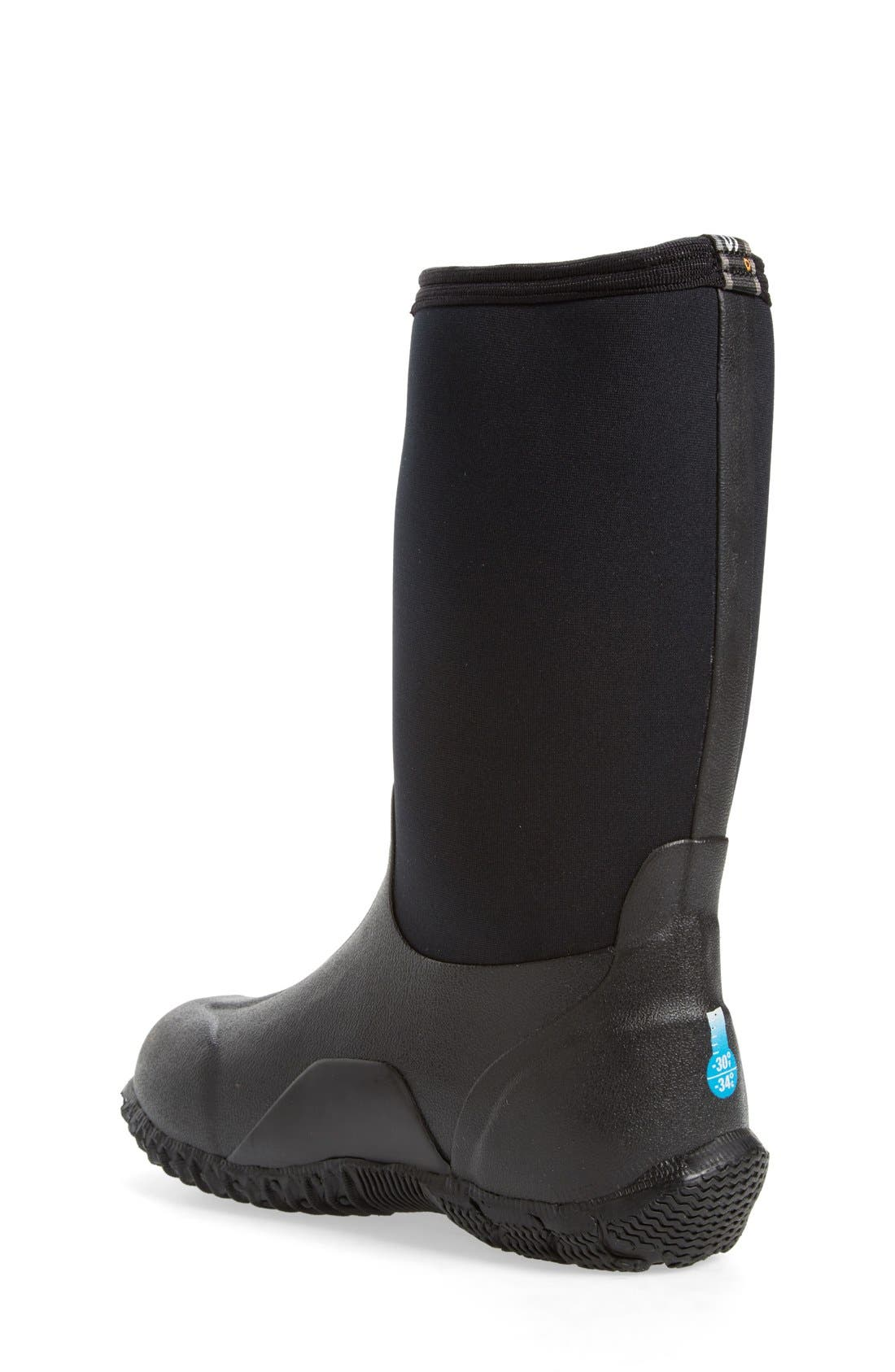 'Classic High' Waterproof Boot,                             Alternate thumbnail 2, color,                             Black