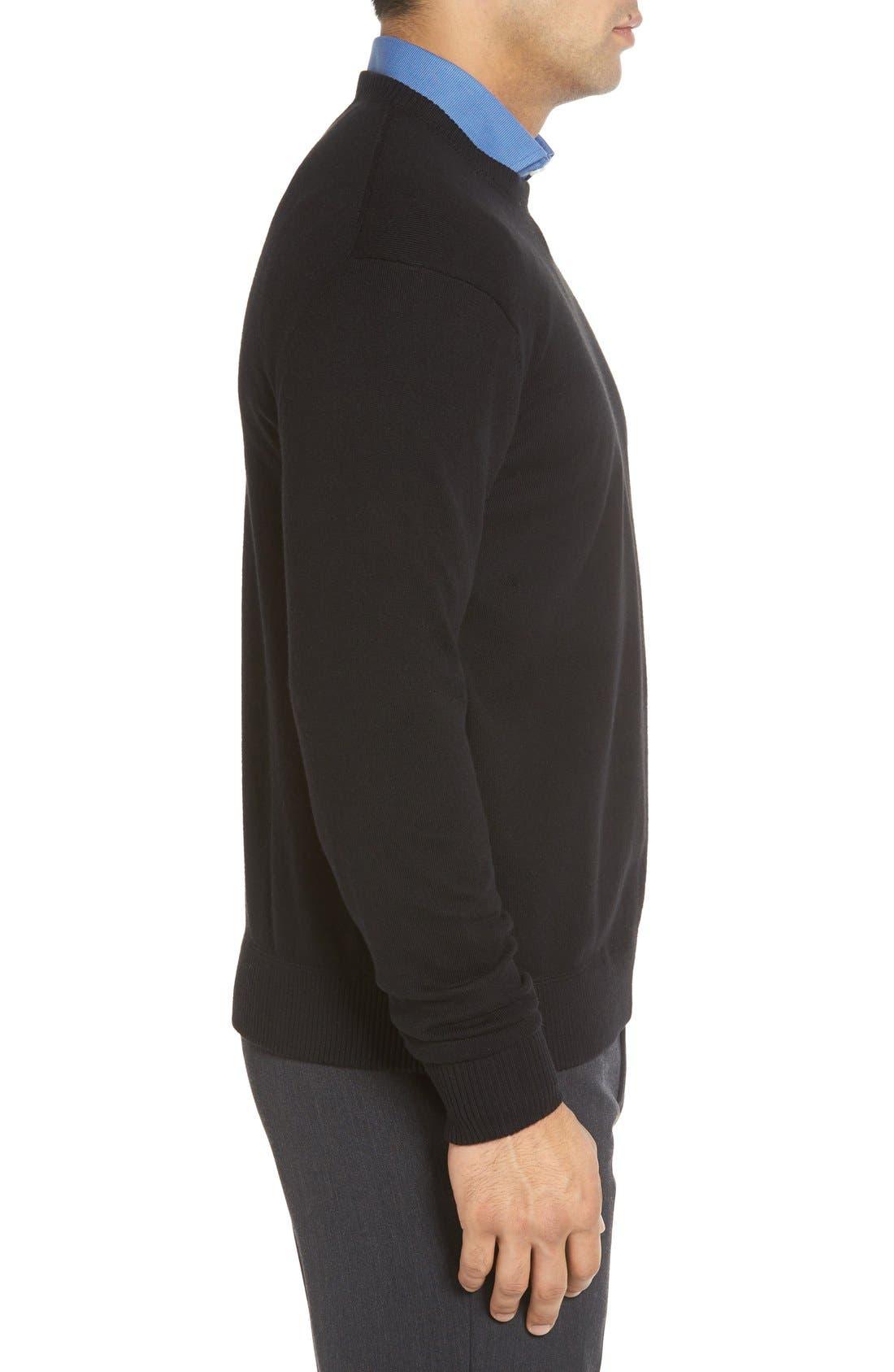 Alternate Image 3  - Robert Talbott 'Jersey Sport' Cotton Blend Crewneck Sweater