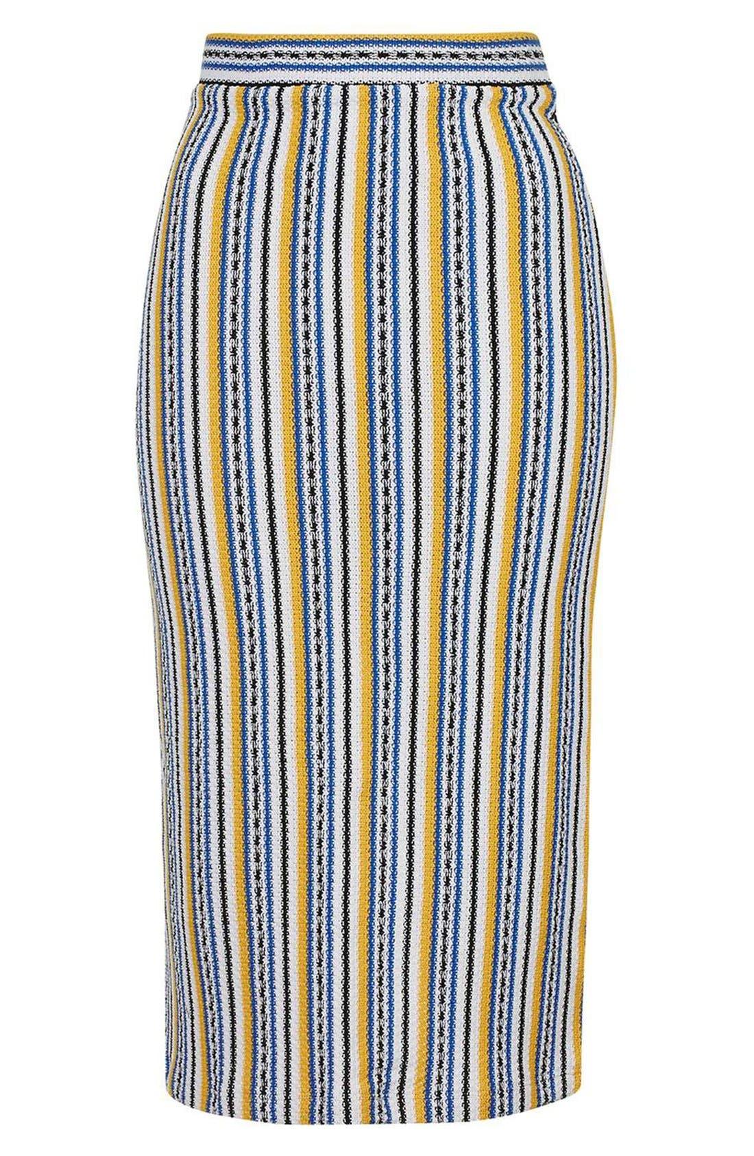 Alternate Image 4  - Topshop 'Seaside' Striped Tube Skirt