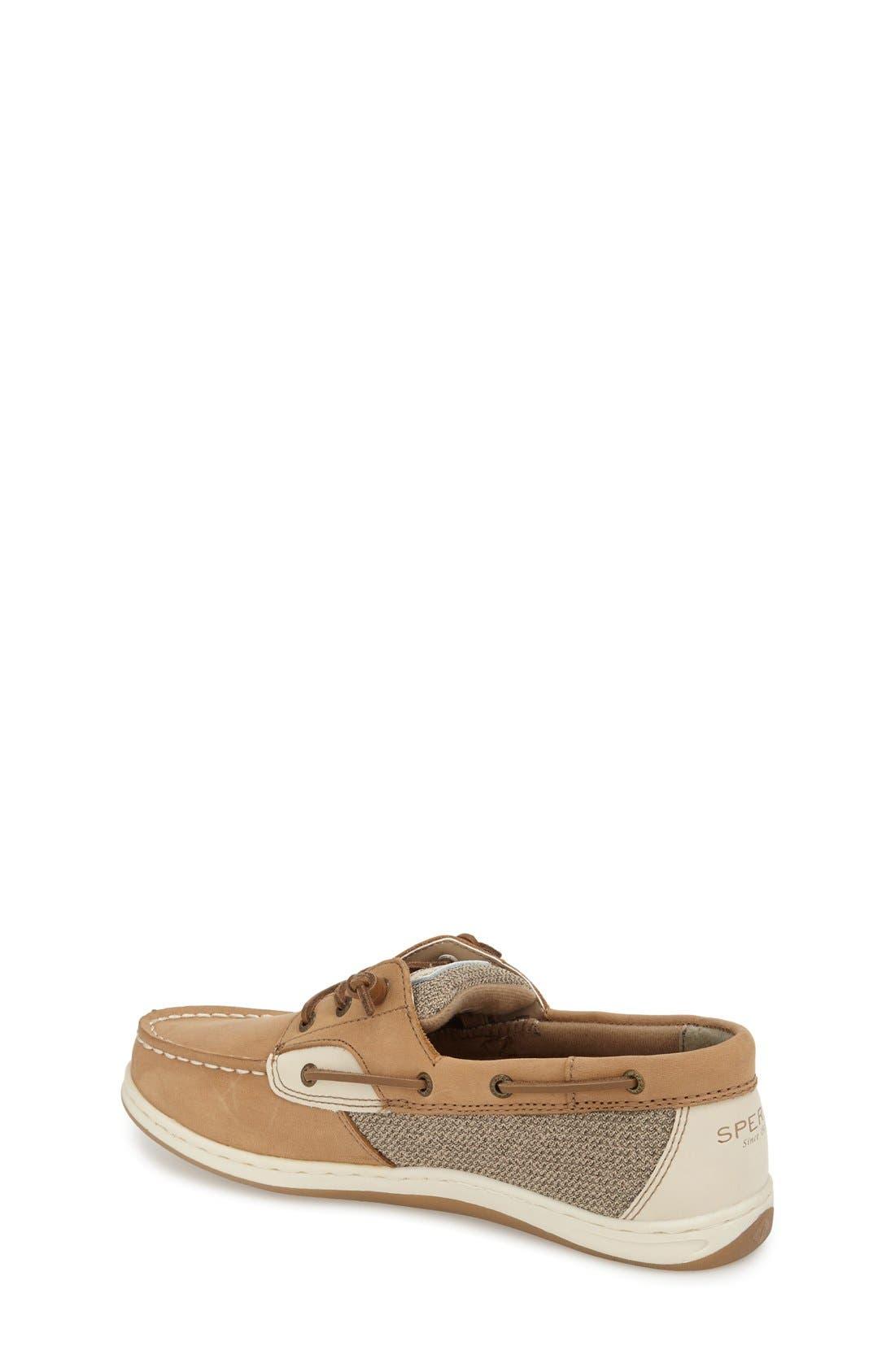 'Songfish' Boat Shoe,                             Alternate thumbnail 2, color,                             Linen/ Oat Leather