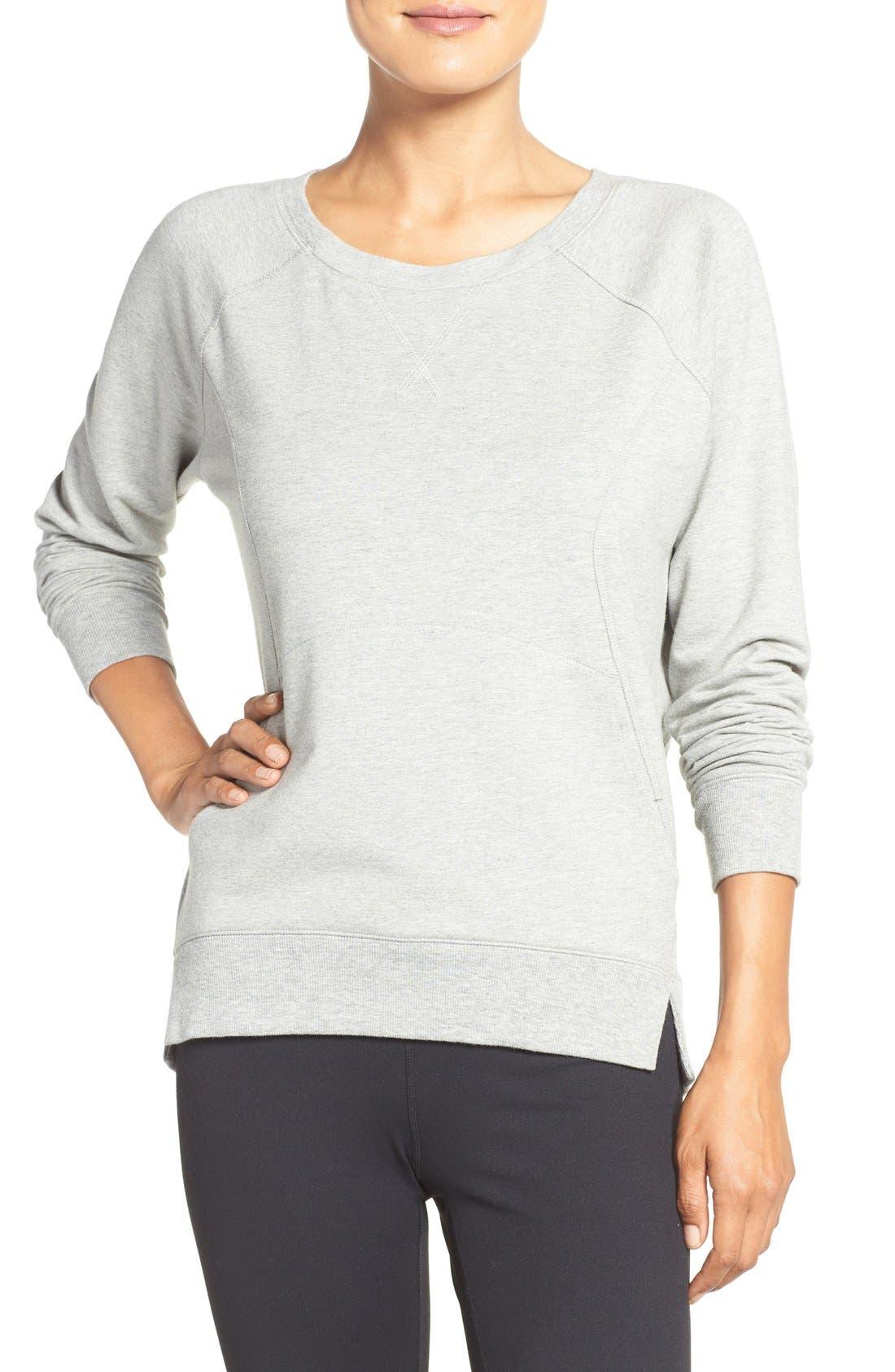 Main Image - Zella 'Luxesport' Long Sleeve Sweatshirt