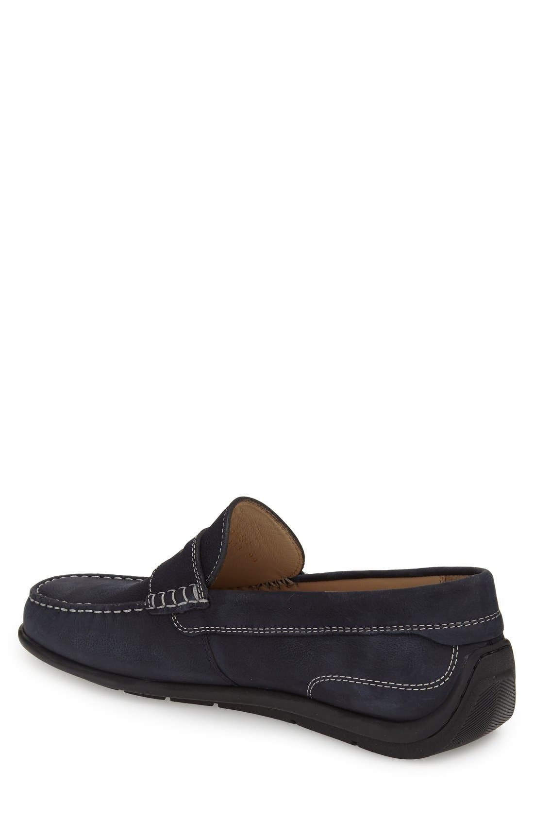 'Classic Moc 2.0' Penny Loafer,                             Alternate thumbnail 2, color,                             Navy Leather