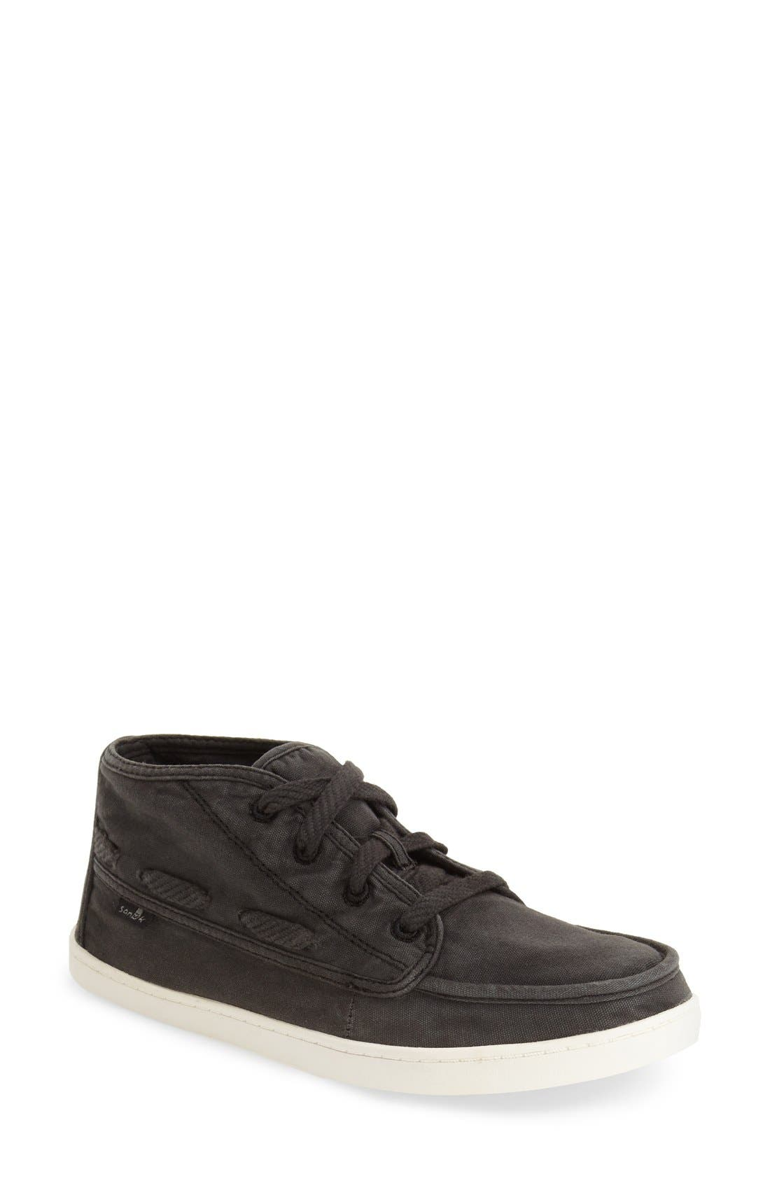 'Vee K Shawn' High Top Sneaker,                             Main thumbnail 1, color,                             Washed Black