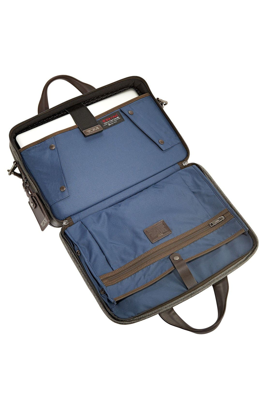 'Alpha 2' T-Pass<sup>®</sup> Coated Canvas Briefcase,                             Alternate thumbnail 5, color,                             Earl Grey