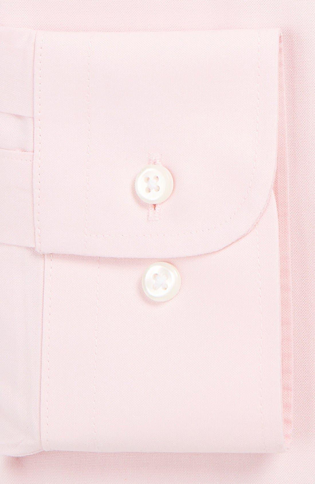 Smartcare<sup>™</sup> Trim Fit Solid Dress Shirt,                             Alternate thumbnail 2, color,                             Pink Snow