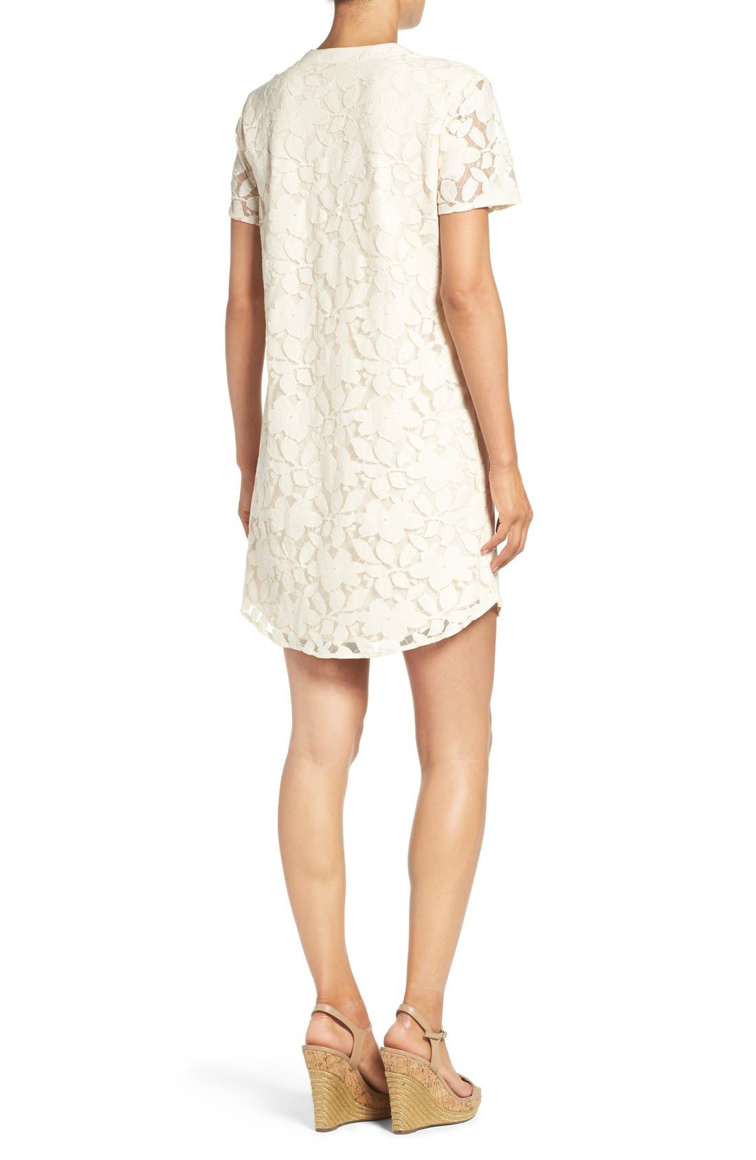Alternate Image 2  - ECI Floral Lace Shift Dress