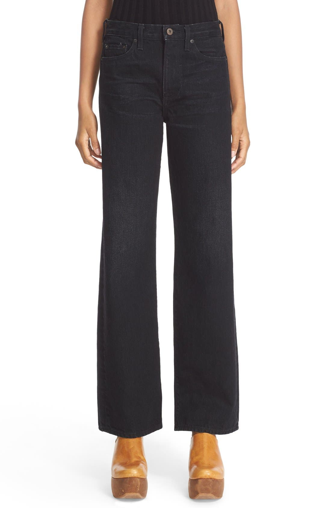 Simon Miller Wide Leg Jeans (Black)