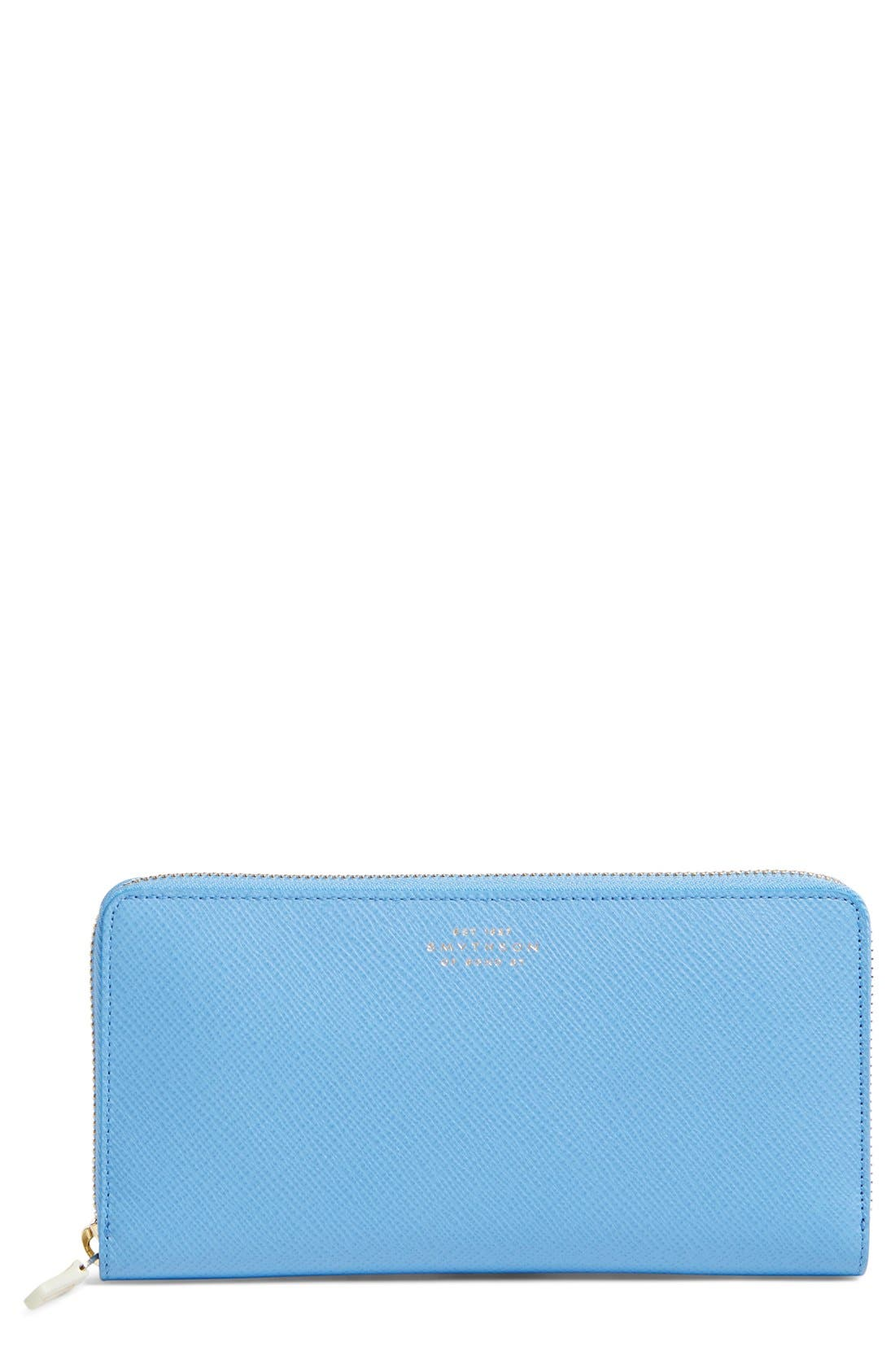 Smythson 'Large Panama' Zip Around Wallet