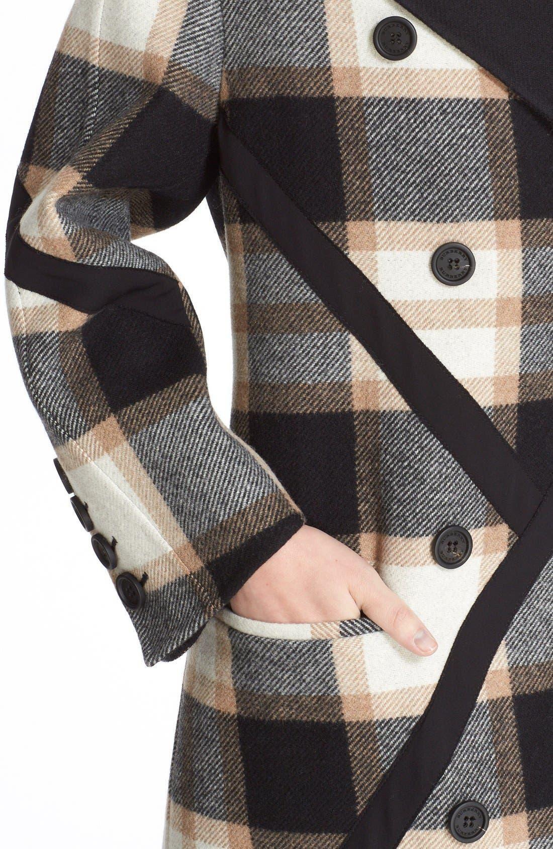 Alternate Image 6  - Burberry Tartan Plaid Wool Coat