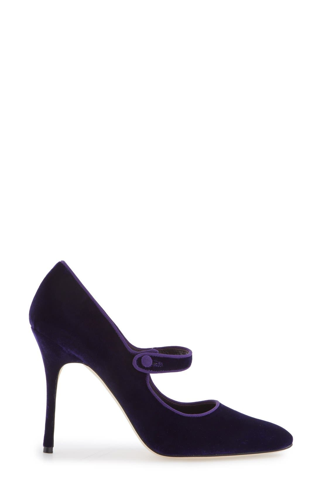 Alternate Image 4  - Manolo Blahnik 'Campy' Velvet Pump (Women) (Nordstrom Exclusive Color)