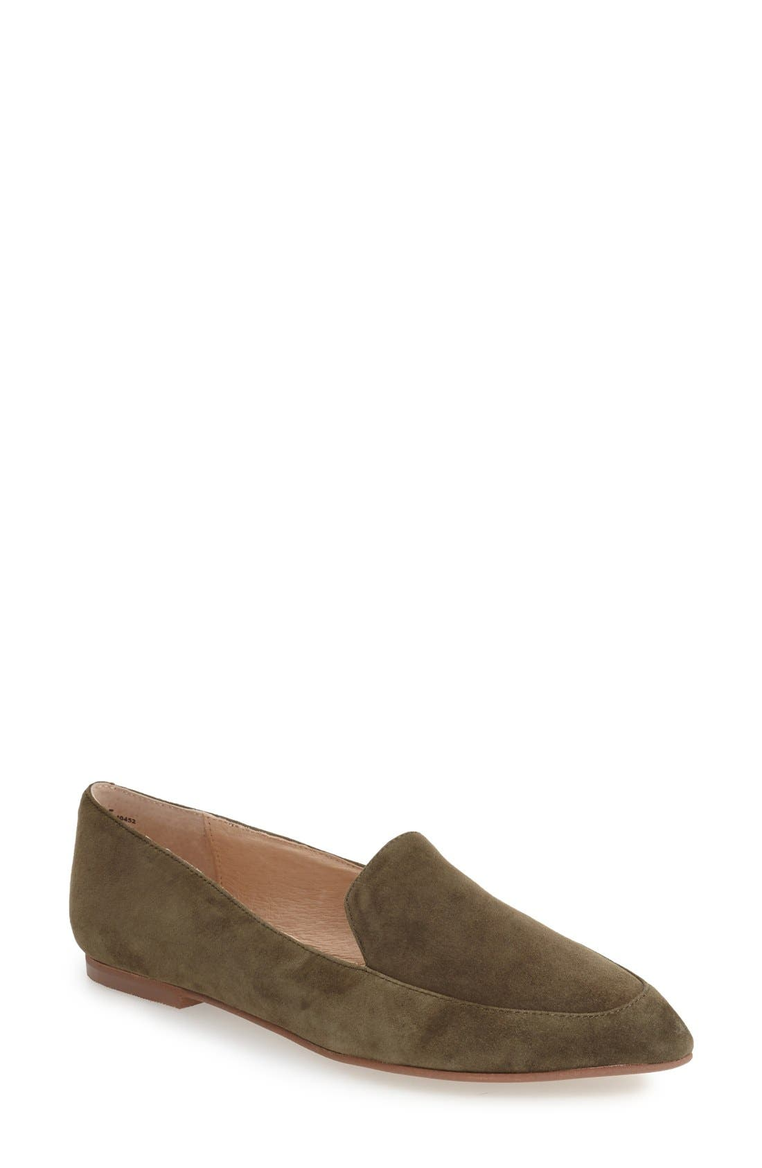 'Chandy' Loafer,                         Main,                         color, Olive Suede
