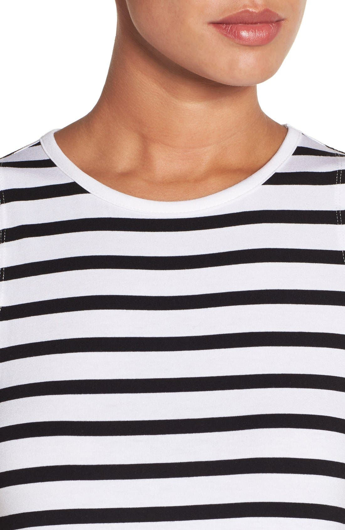 Alternate Image 4  - Press Stripe Sleeveless A-Line Dress