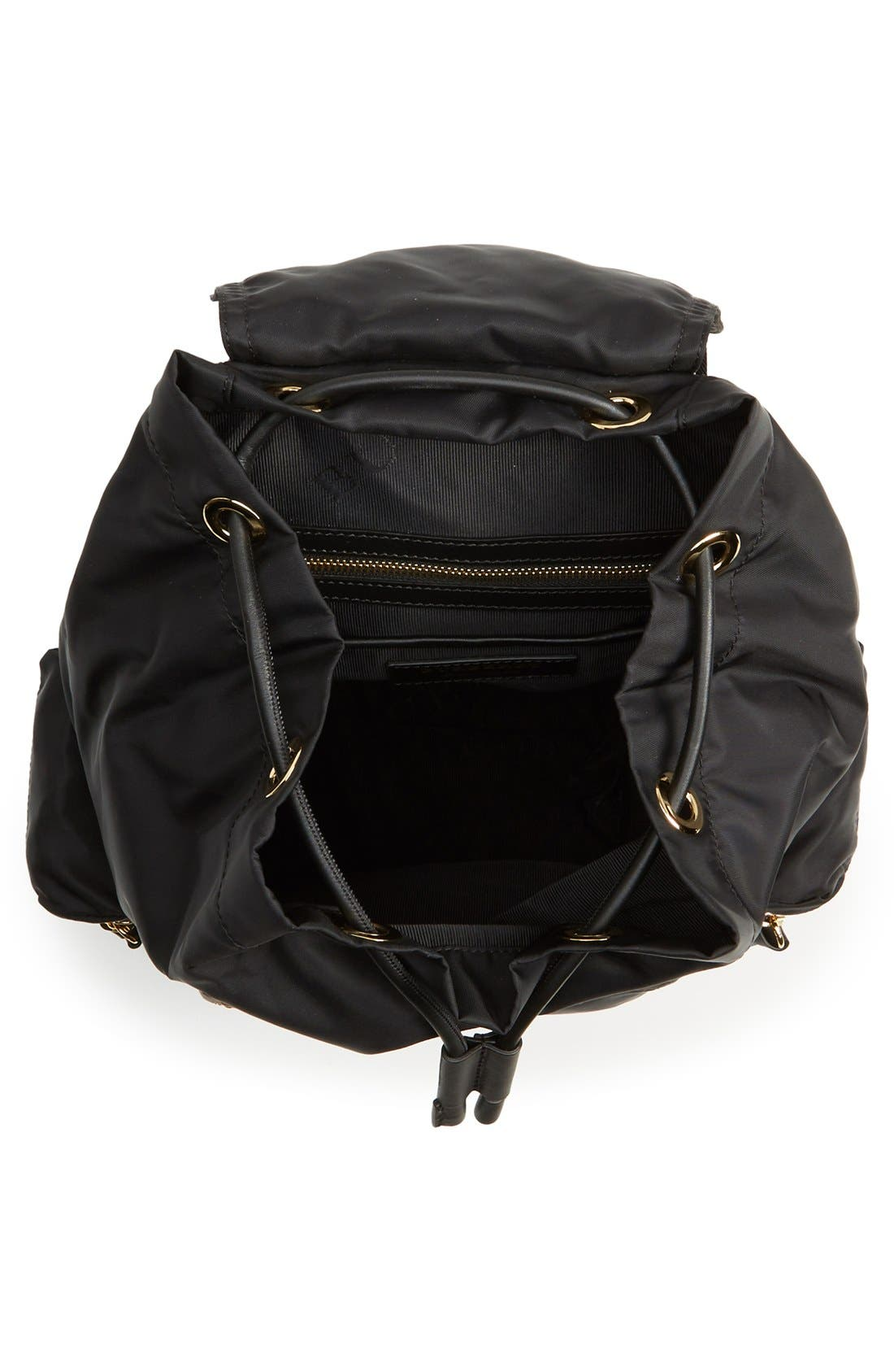 'Medium Runway Rucksack' Nylon Backpack,                             Alternate thumbnail 4, color,                             Black